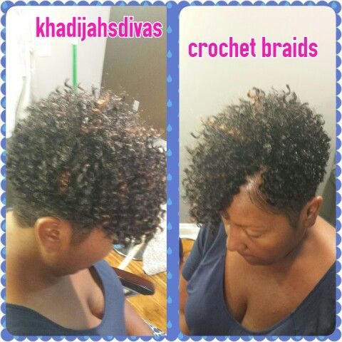 Short Tapered Bohemian Crochet Braids