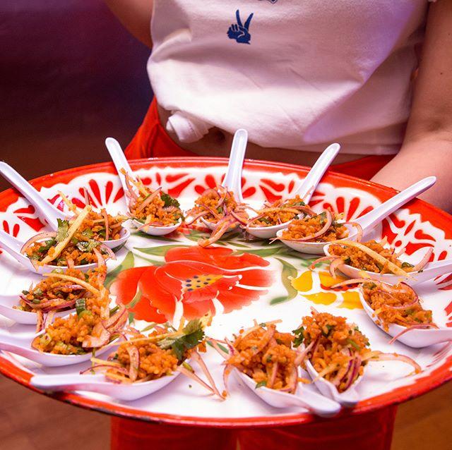 "Love the bright colors, crisp textures, and salty + sour + spicy palate of ""Night + Market Sahm"" @ntmrkt — Thank you Sarah and Kris! 👉🏼 1st Photo: Kimberlyn Gonzalez @geezkimberlyn; 2nd & 3rd: Sirin Lynn Sanglimsuwan @sirinlynn .  #chefs #cheflife #zakarypelaccio #chefsofinstagram #huffposttaste #grubstreet #seriouseats #buzzfeast #foursquarefind #tastingtable #restaurantfoodphotos #restaurantfoodpics #restaurantfoodphotography #dailyfoodfeed #losangelesfood #lafood #eaterla #dinela #yelpla #laeats #infatuationla #hungryinla #thrillist #insiderfood #feastagram #lafoodie #losangeleseats #lafood #laeater #lafoodies"