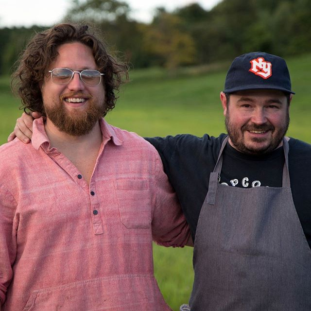 """Play With Fire"" 2014 at Fish & Game farm. Here with @hseanbrock just before @hudson_pelaccio lit the bonfire with a flaming arrow! 🎯🔥 . WE'RE PLEASED TO ANNOUNCE 2018 ""Play With Fire"" will be held on  August 11th at Fish & Game Farm. Tickets go on sale July 1st!  More info to come.  Click the link in my profile to sign up for notifications. . . #playwithfirehudsonvalley #chef #chefs #cheflife #zakarypelaccio #chefsofinstagram #hudson #hudsonny #hudsonnewyork #hudsonvalley #upstate #upstatenewyork #upstateny #columbiacounty #nycrestaurants #huffposttaste #eaterny #grubstreet #seriouseats #zagat #yelpeatsnyc #buzzfeast #foursquarefind #tastingtable #newforkcity #timeoutnewyork #zagatny #fishandgamefarm #fishandgamehudson #seanbrock"