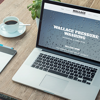 Wallace Pressure Washing   Website Design