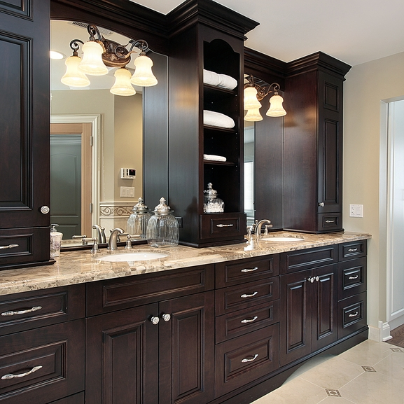 Vancouver Bathroom Renovation - Bathroom Vanities with Storage