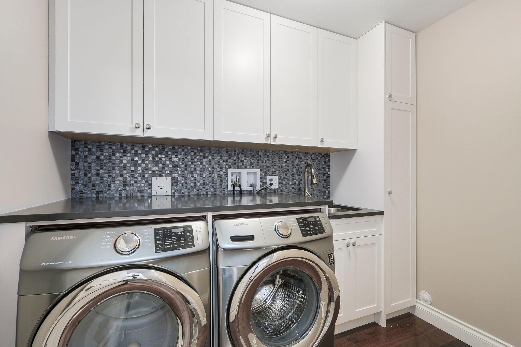 Luxury Laundry Room Renovation in Coquitlam