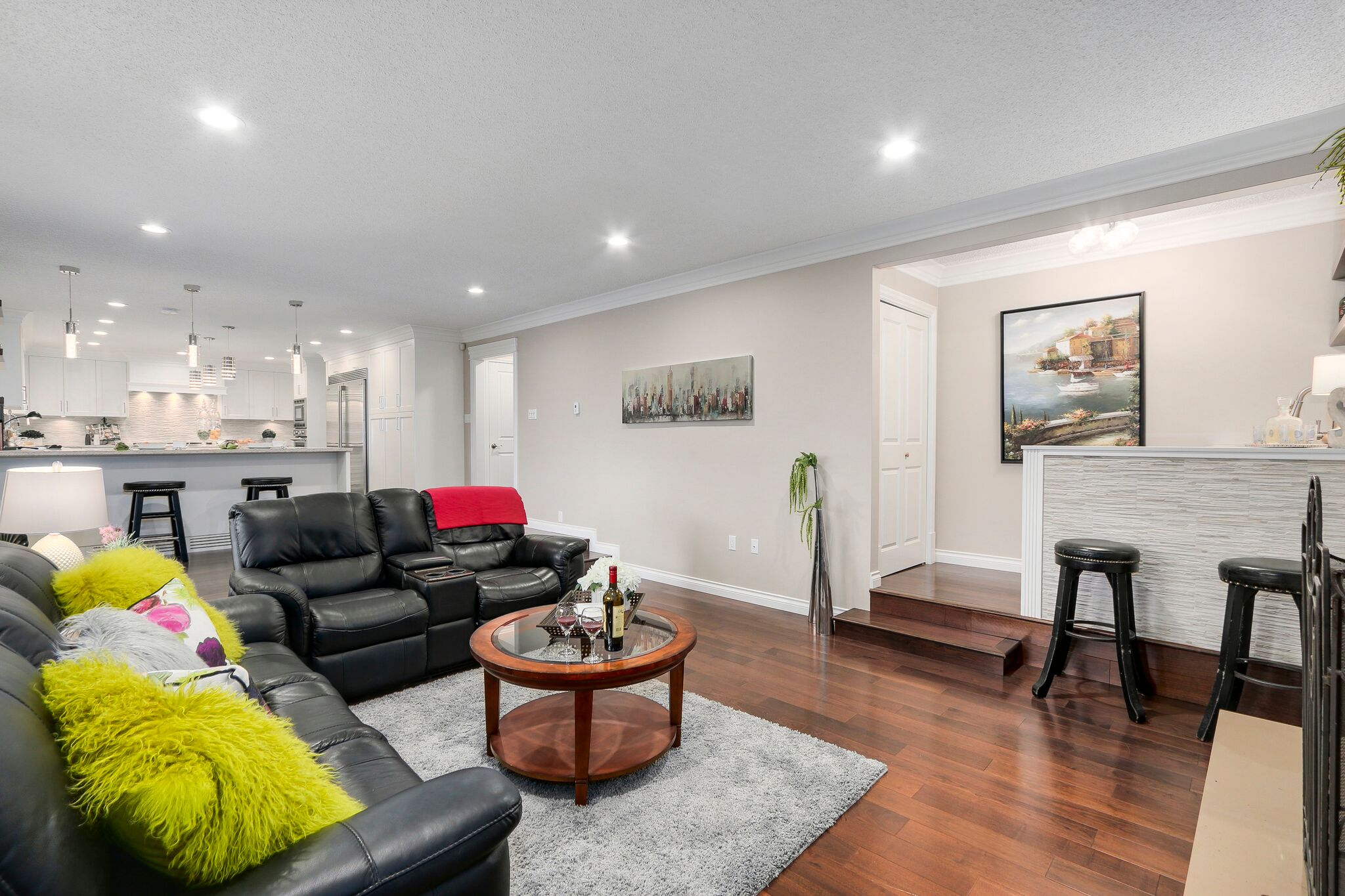 Luxury Family Room & Bar Renovation in Coquitlam