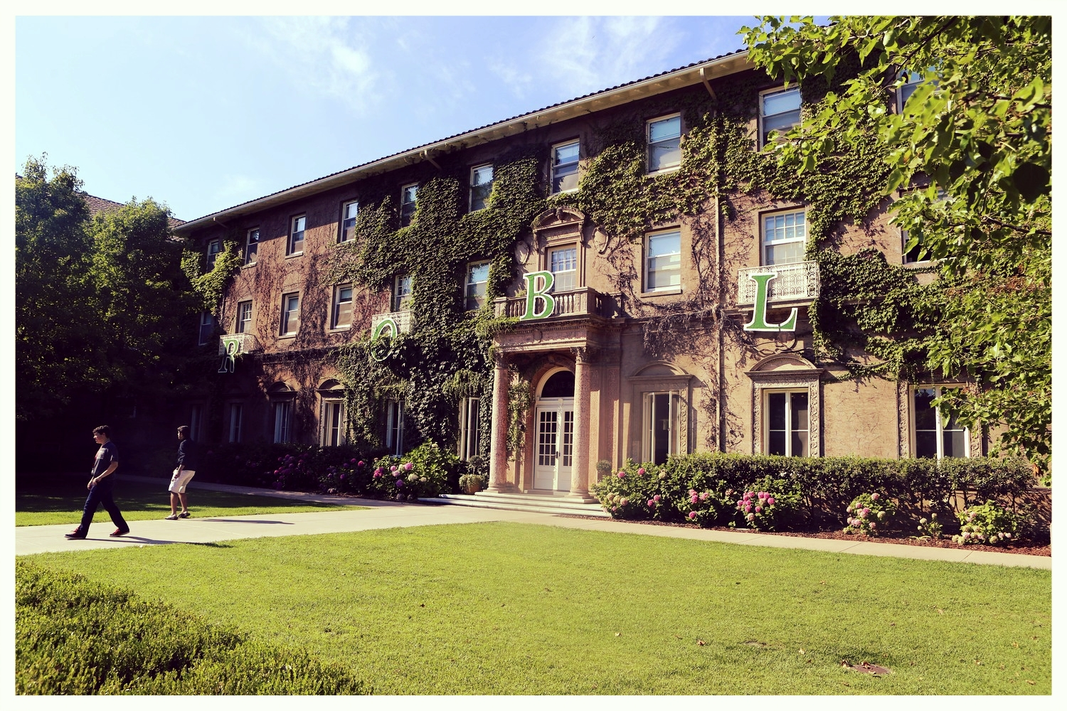 Robles Hall, Harrison's Stanford dormitory for a month