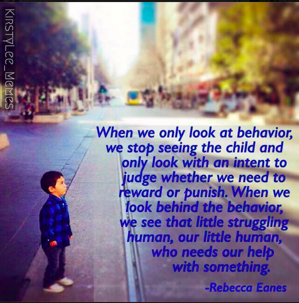 With the P.E.T. focus on needs, we are not saying all behavior is acceptable! (We can later Problem-Solve and Consult on more socially acceptable ways of getting needs met besides whining, pushing, hitting, becoming a dead-weight in our arms etc.) We are just saying that all emotions are acceptable. And that's huge for a child's burgeoning resilience.
