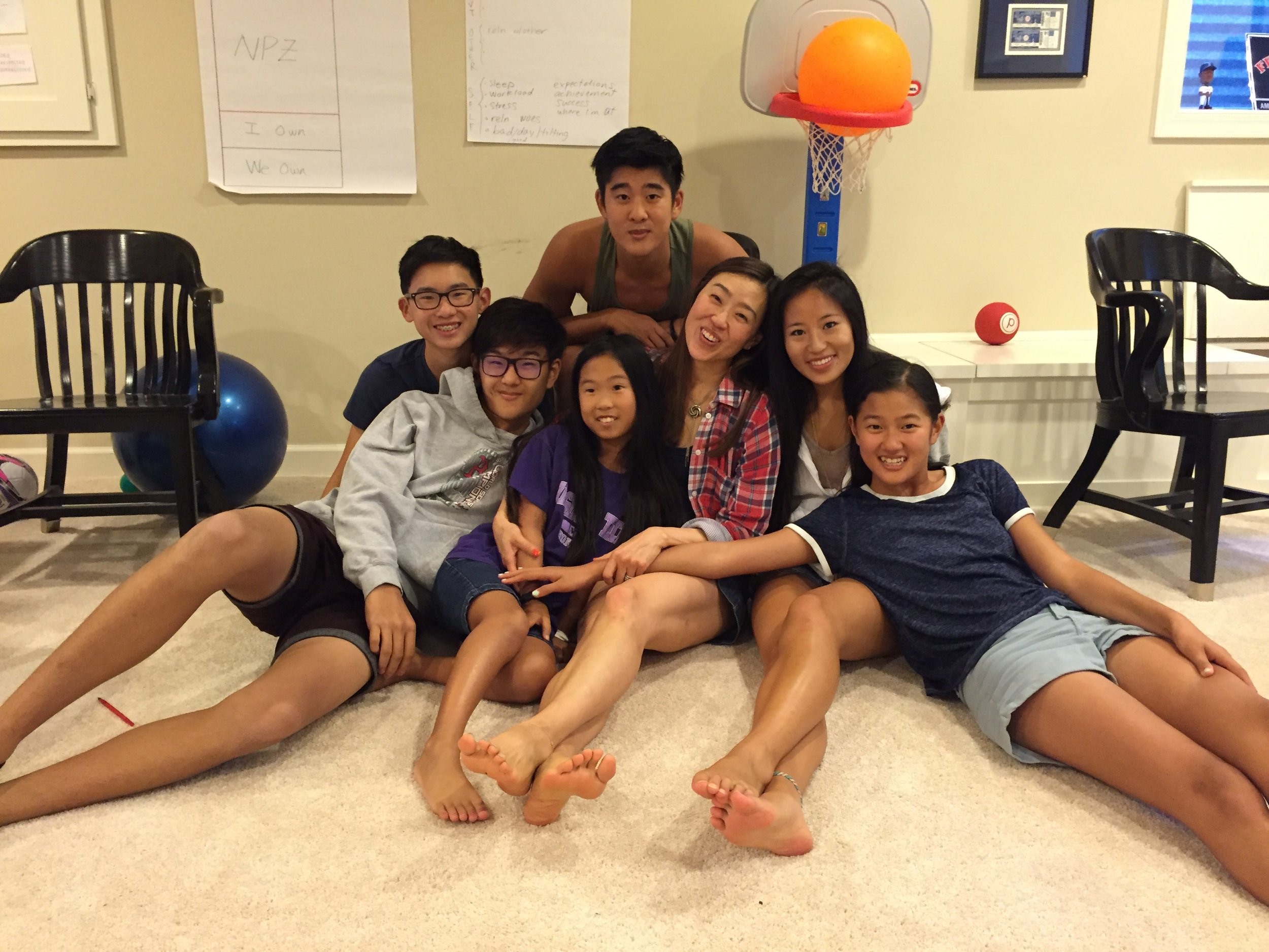 First ever Youth Effectiveness Training class with my three kids, nephew, niece and family friend!