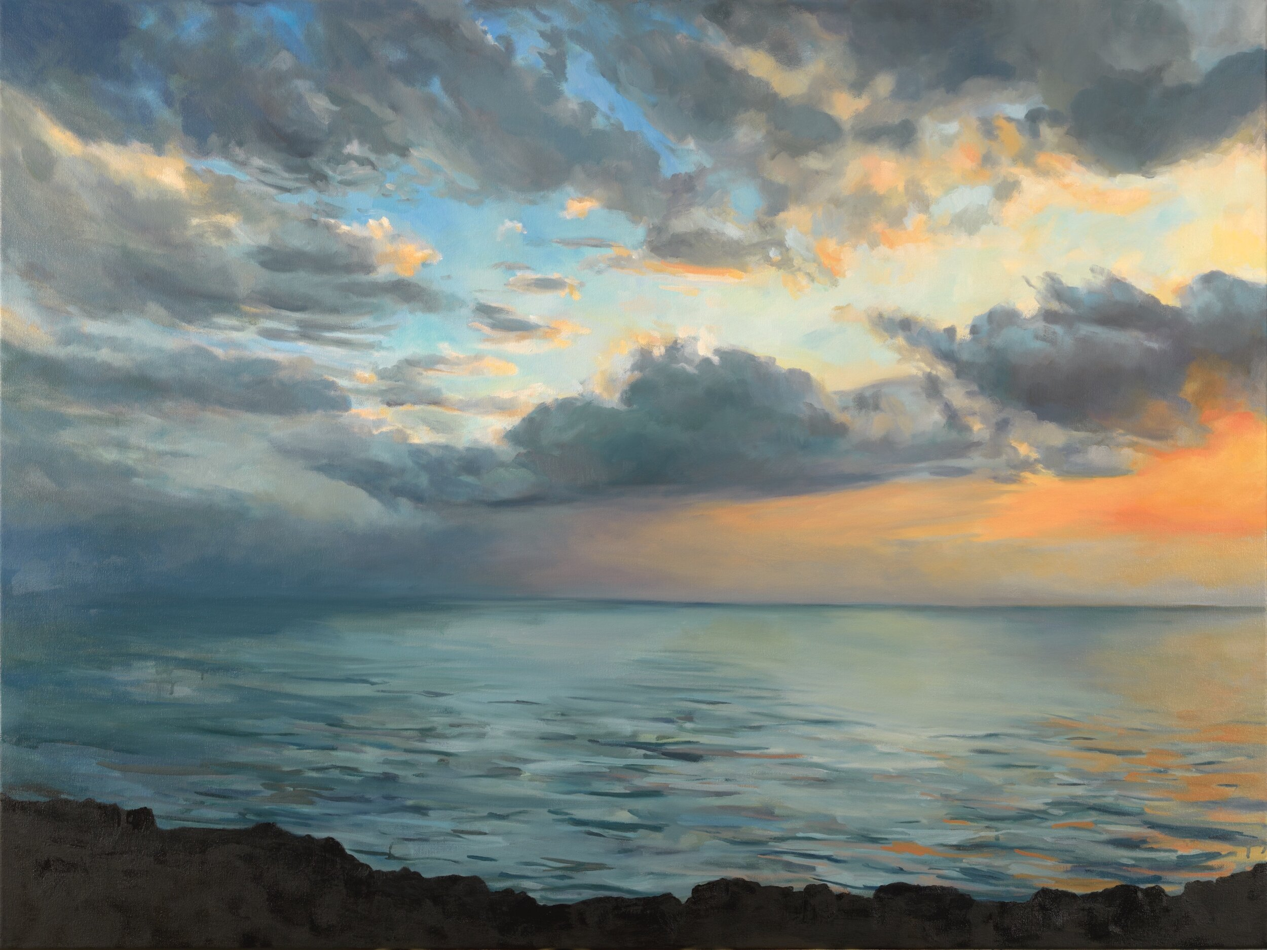 """'Kona'  2017  48"""" x 36""""  water soluble oil on canvas  sold"""