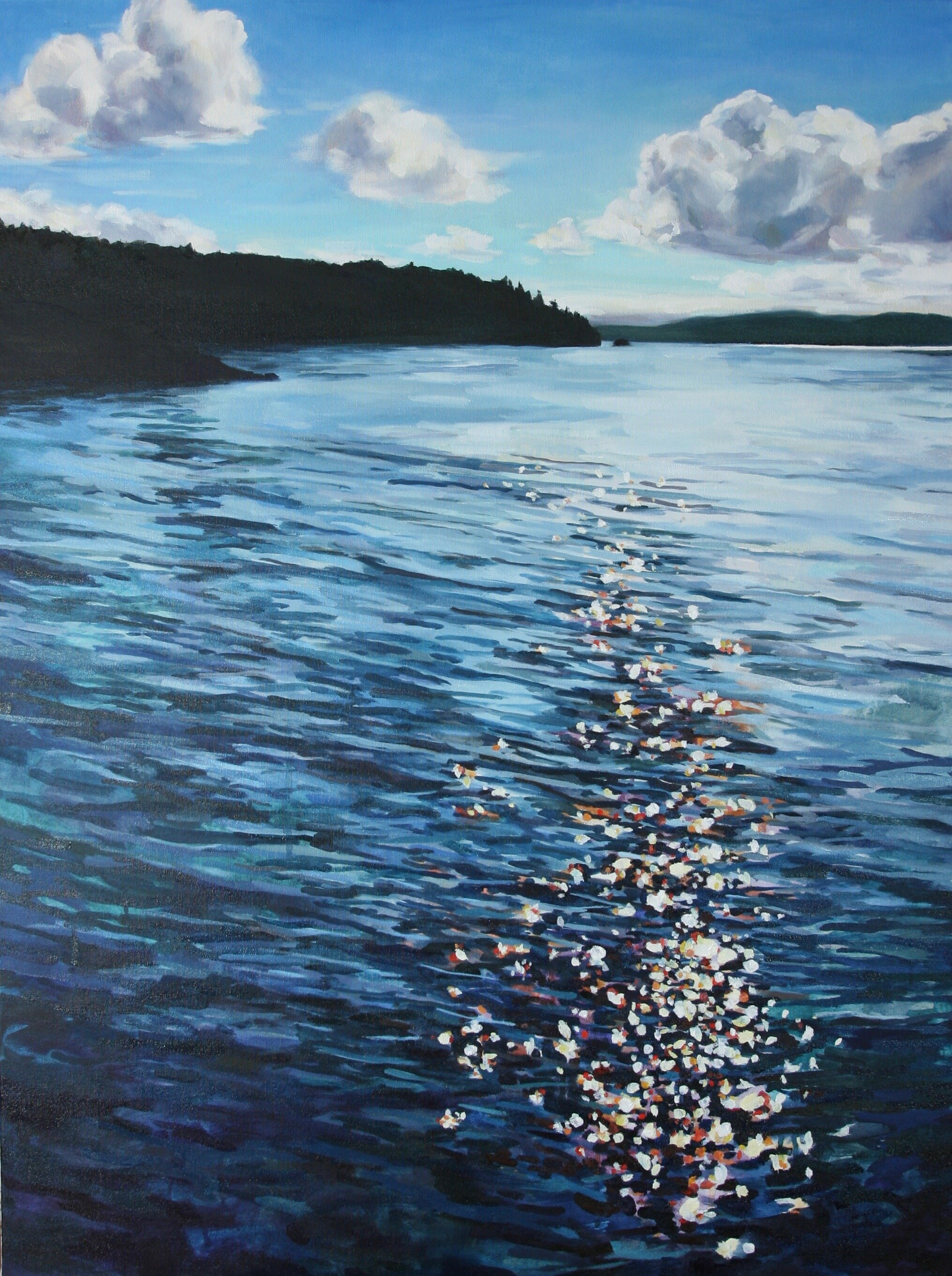 """'Jackson Cove'  2017  30"""" x 40""""  water soluble oil on canvas  sold"""