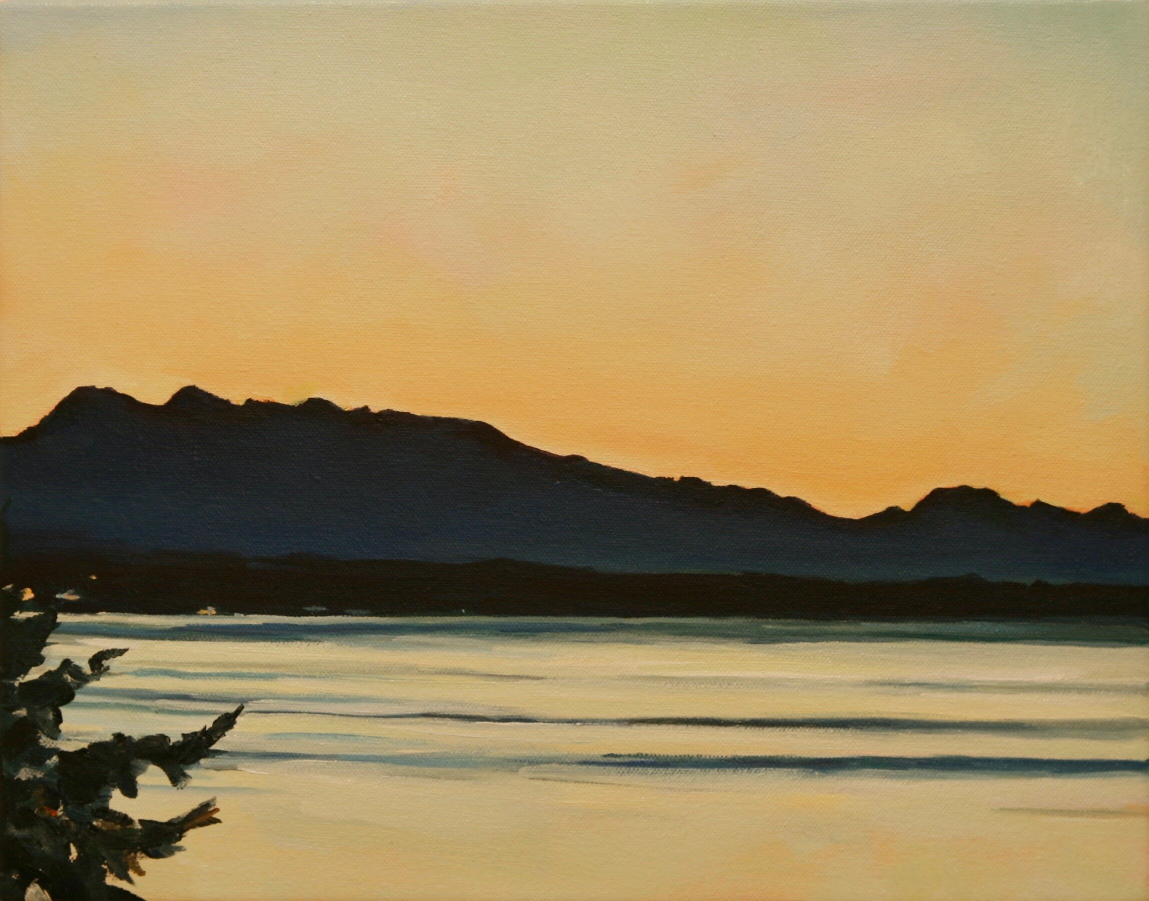 """'Whidbey'  2017  14"""" x 11""""  water soluble oil on canvas  sold"""