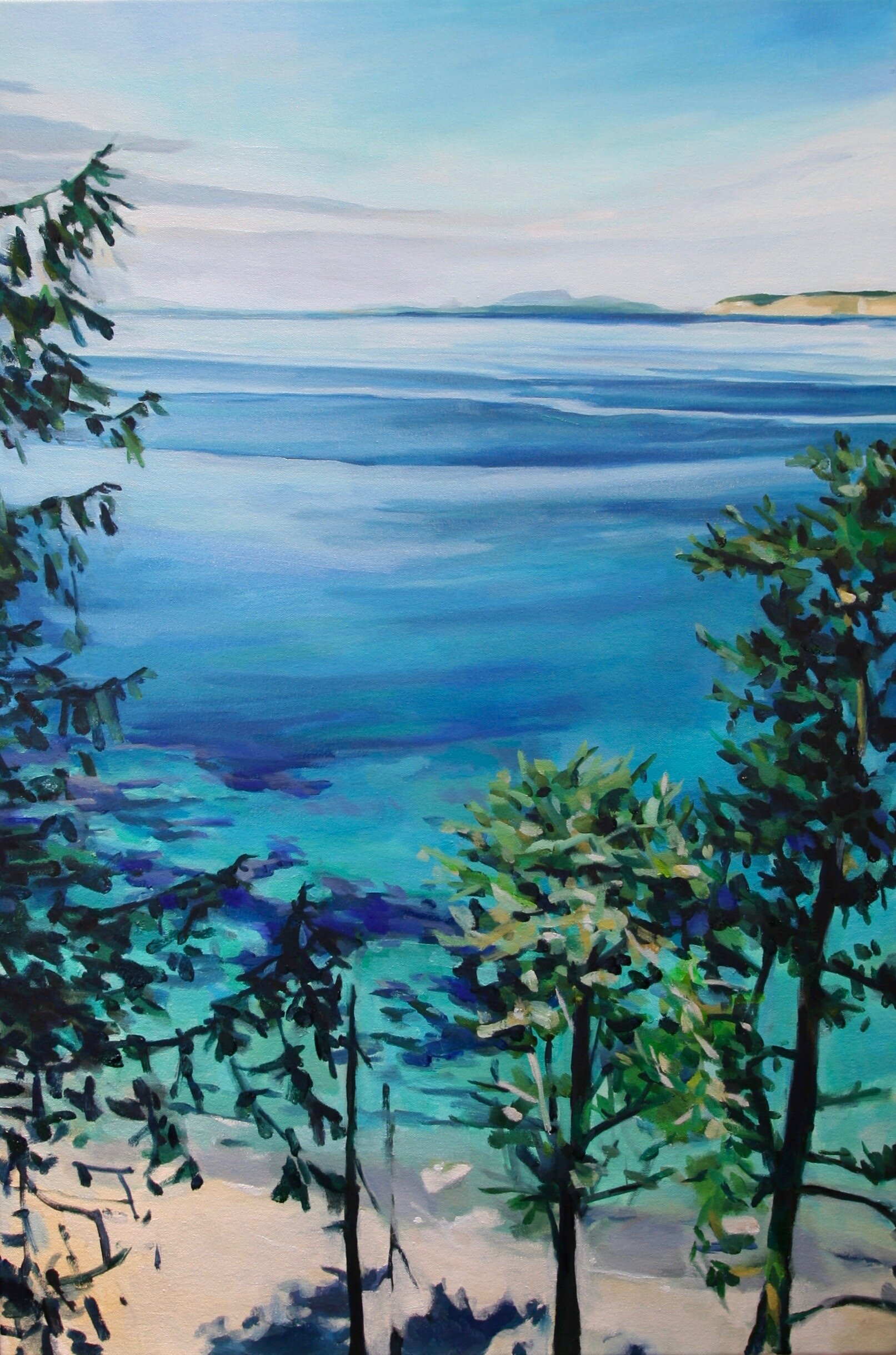 """'North Beach'  2017  24"""" x 36""""  water soluble oil on canvas  available"""