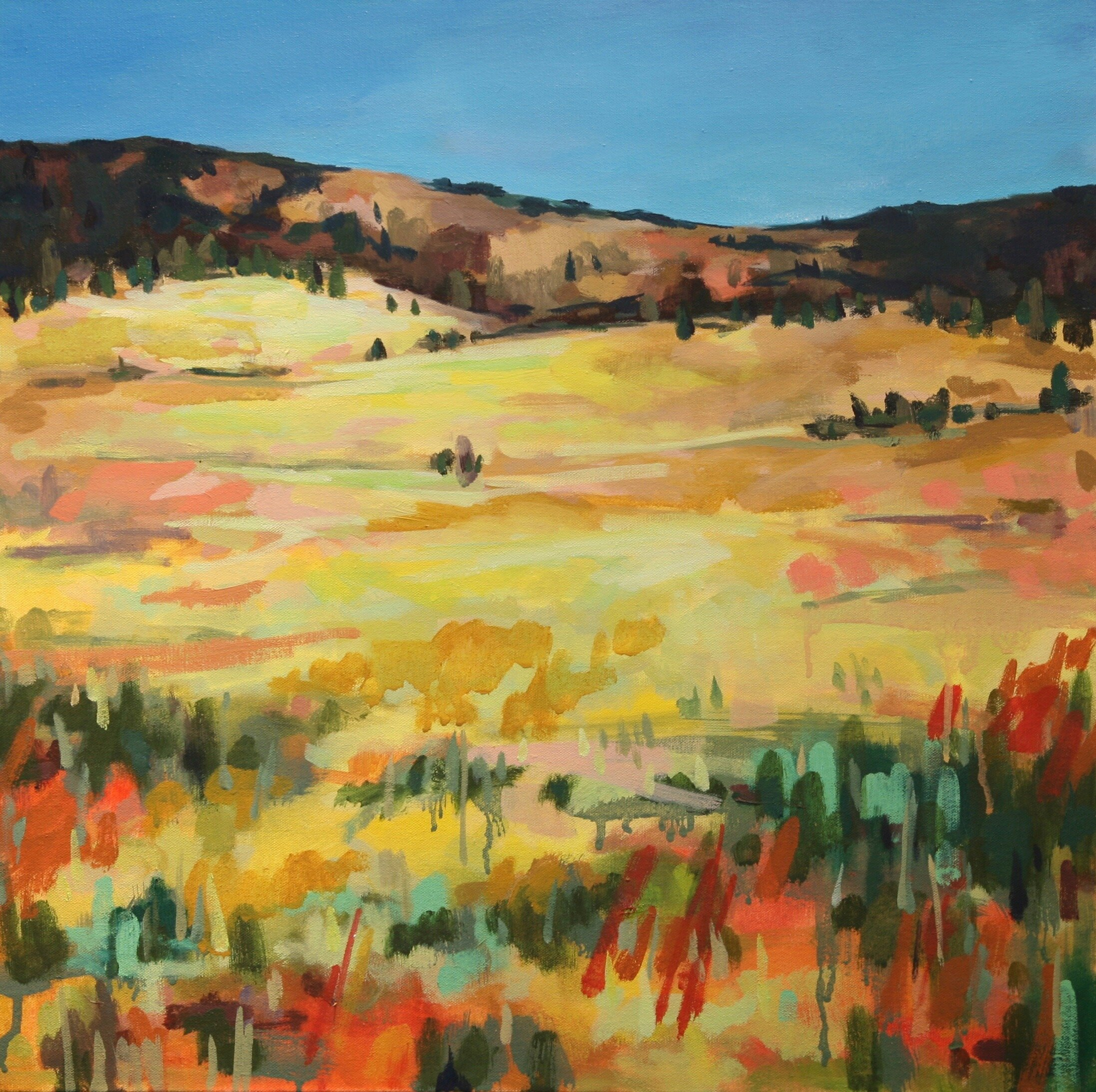 """'A Good Place to Start'  2013-2017  24"""" x 24""""  water soluble oil on canvas  sold"""