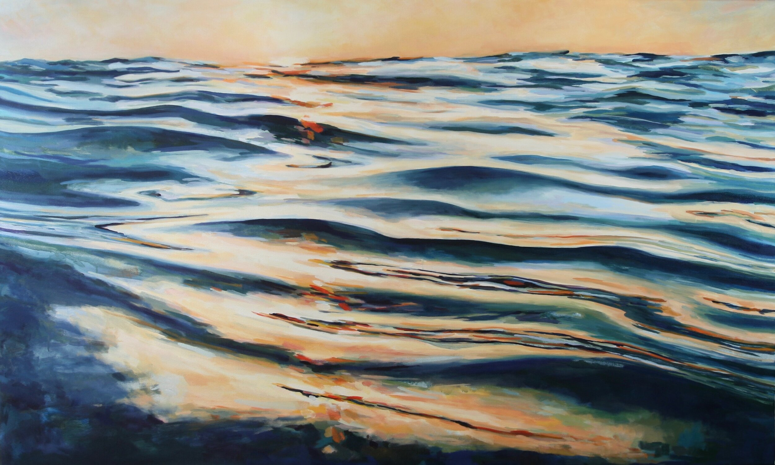 "'Swerve'  2016  60"" x 36""  water soluble oil on canvas  sold"