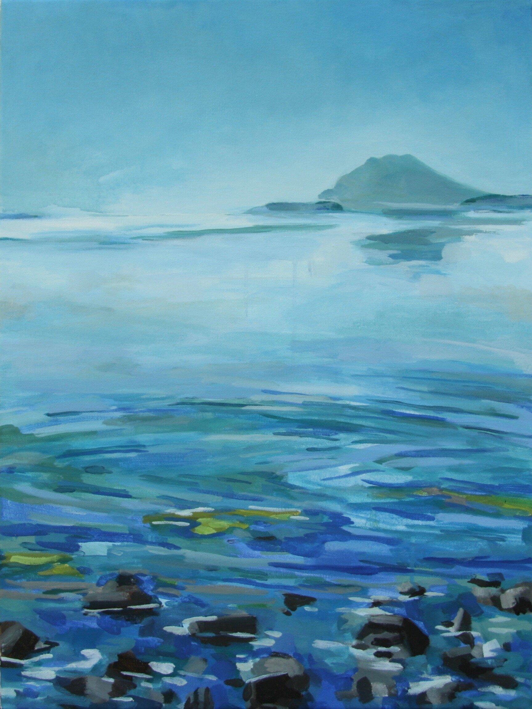 "'Padilla Bay I'  2016  18"" x 24""  water soluble oil on canvas  available"