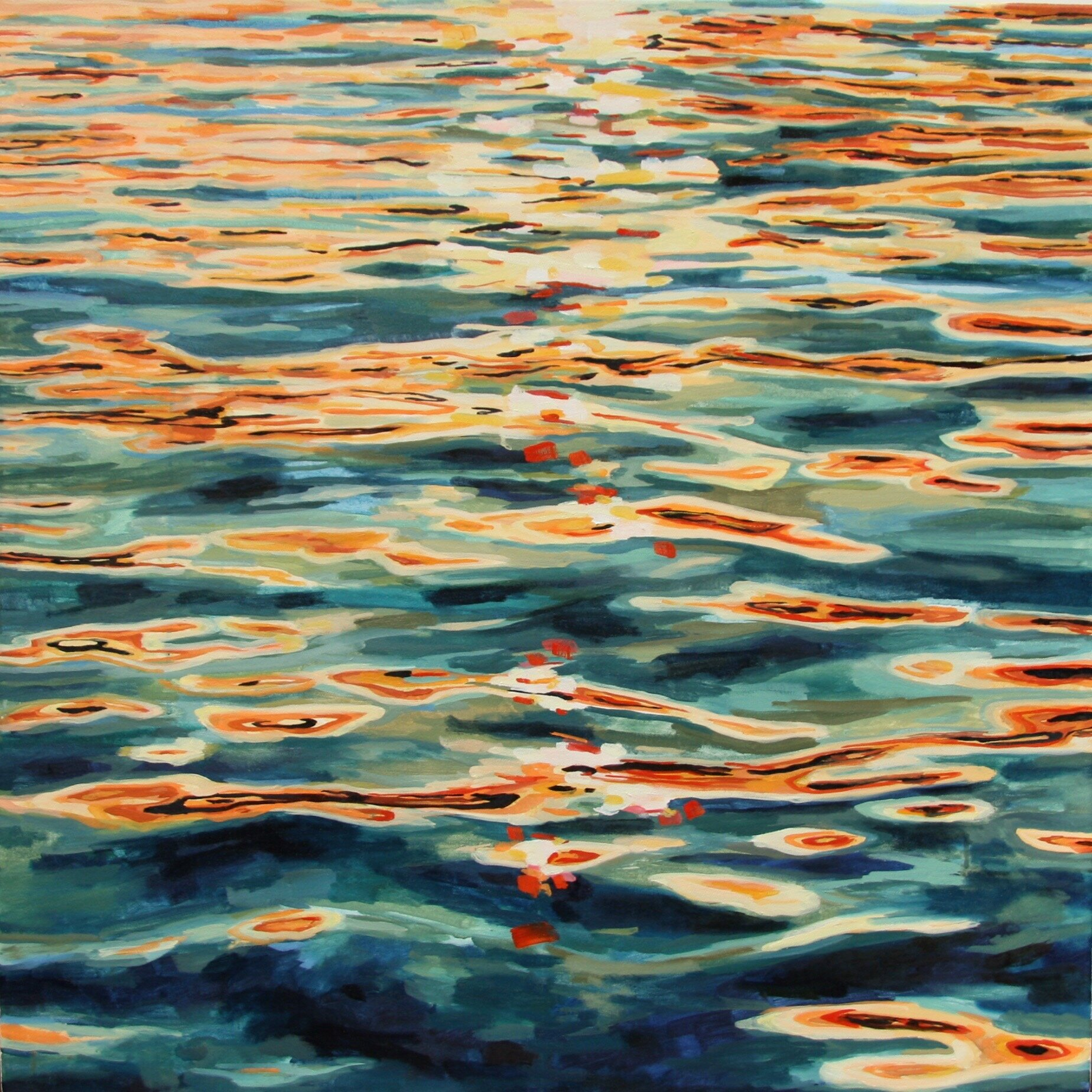 """'Gleam'  2015  36"""" x 36""""  water soluble oil on canvas  sold"""