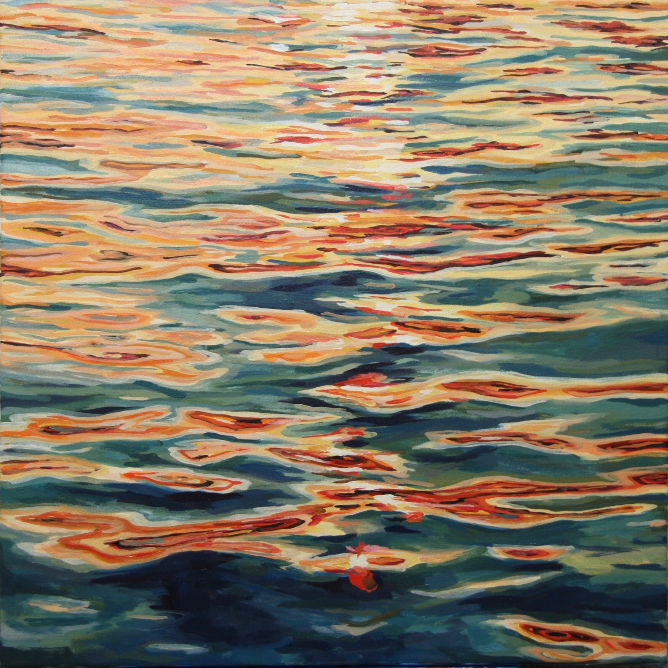 """'Gleam II'  2015  24"""" x 24""""  water soluble oil on canvas  sold"""