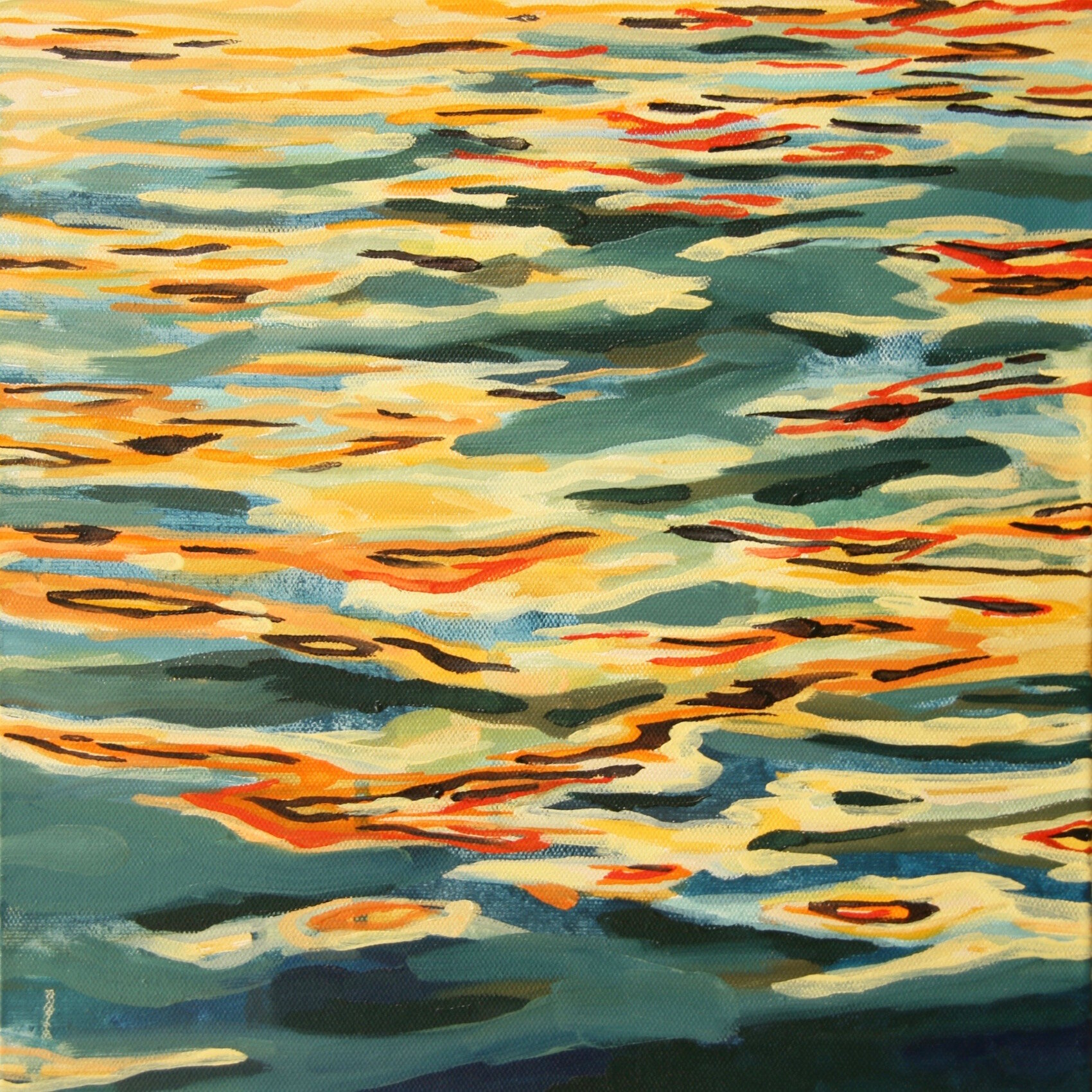 """'Permeate'  2015  12"""" x 12""""  water soluble oil on canvas  sold"""