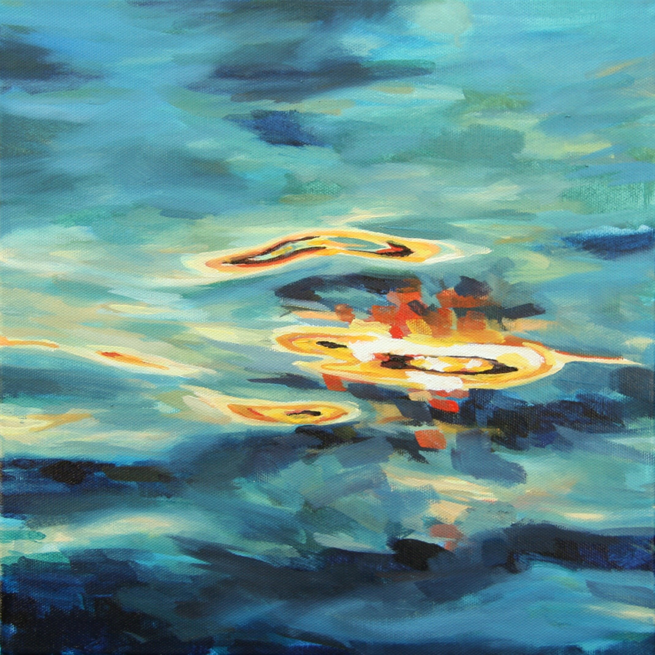 """'Radiate'  2015  12"""" x 12""""  water soluble oil on canvas  sold"""