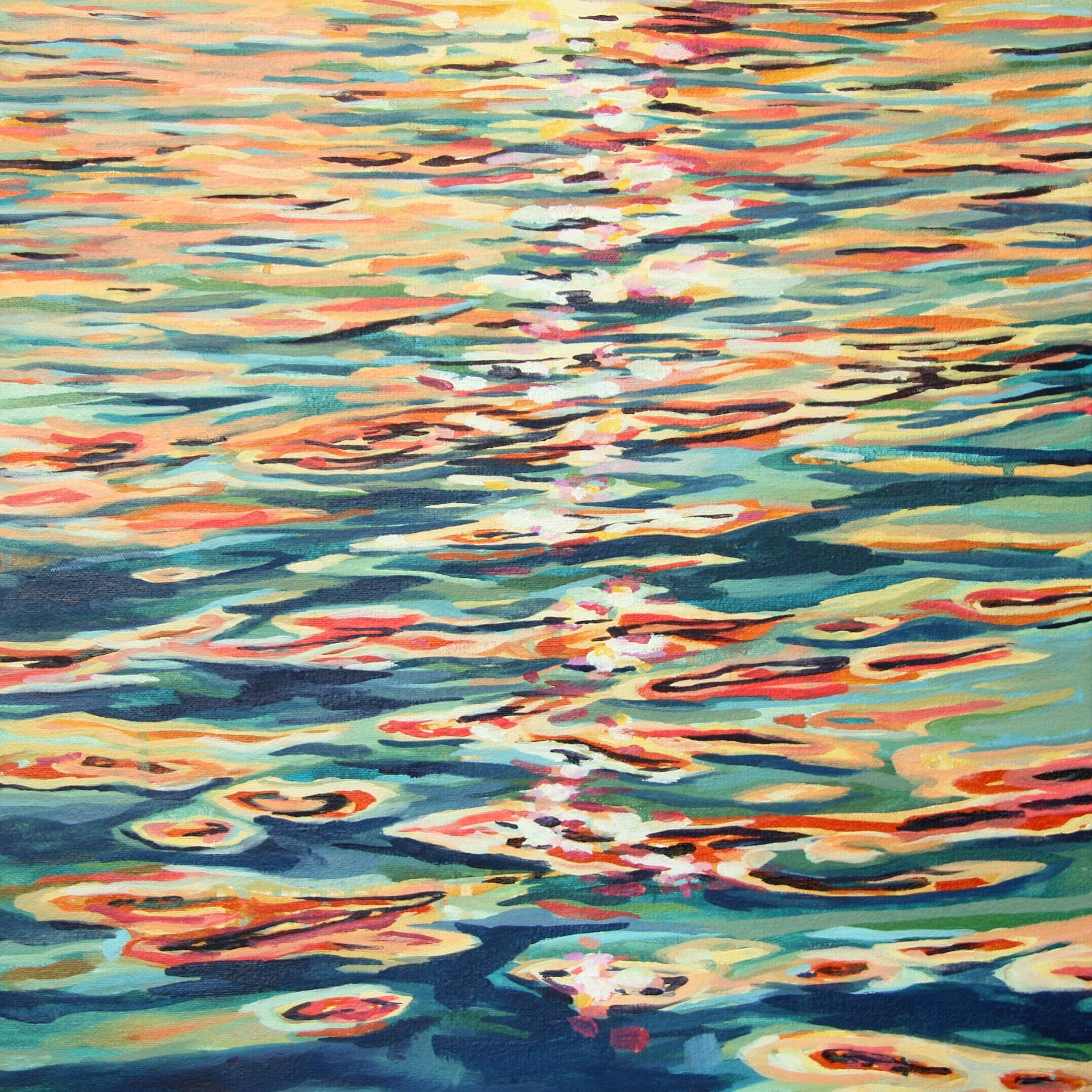 """'Rift'  2015  20"""" x 20""""  water soluble oil on canvas  sold"""