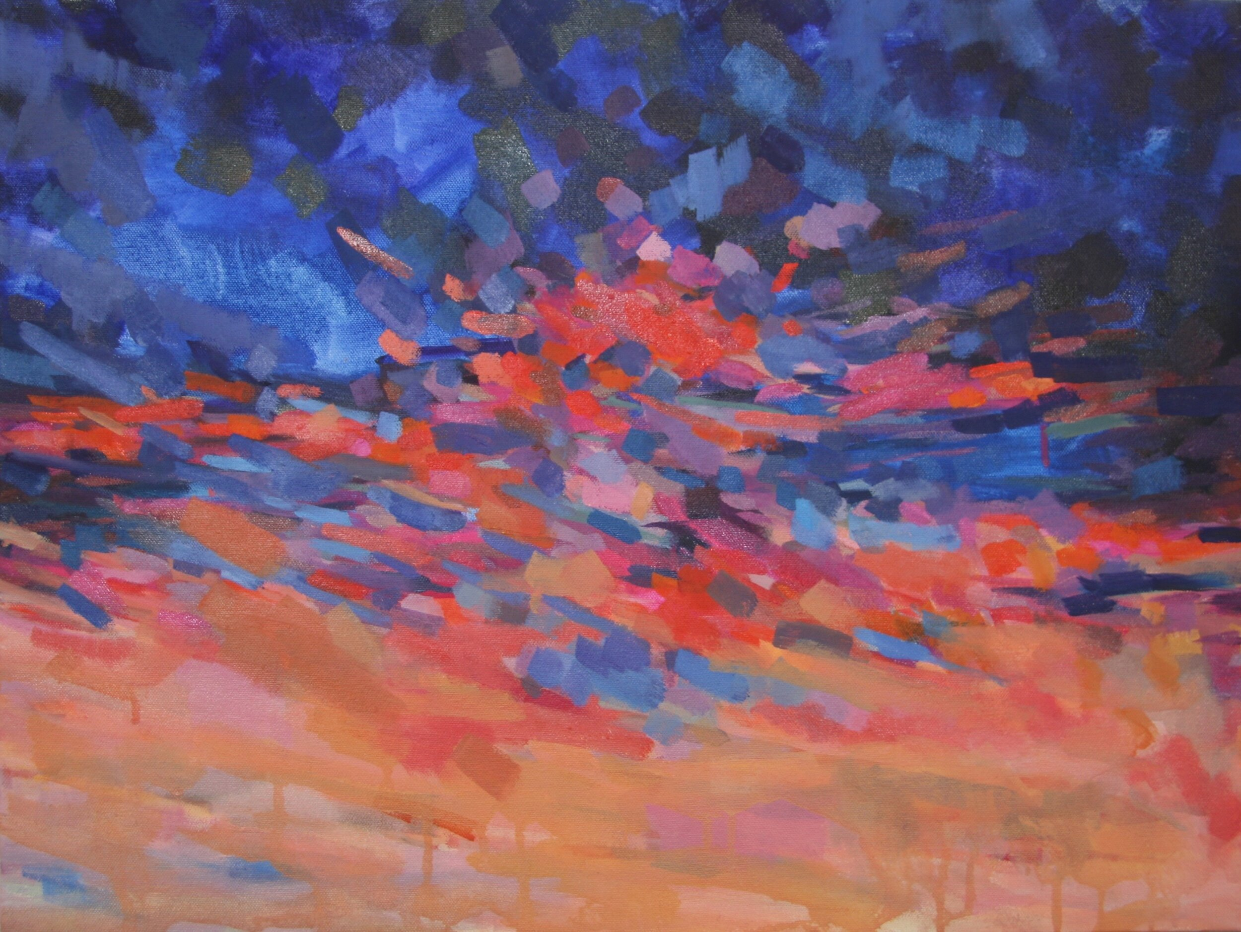 """'Ablaze'  2015  24"""" x 18""""  water soluble oil on canvas  sold"""