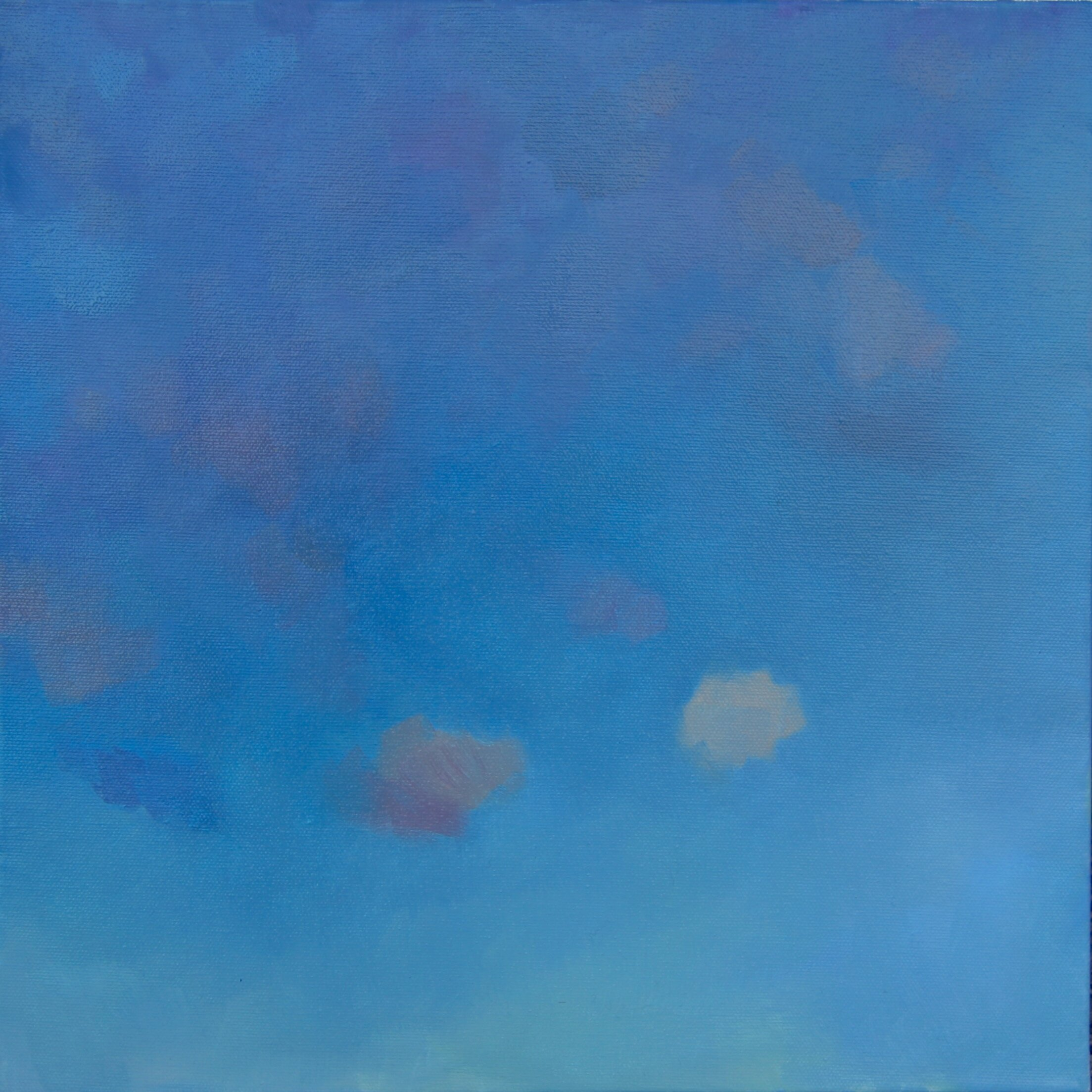 """'Dusk'  2015  14"""" x 14""""  water soluble oil on canvas  sold"""