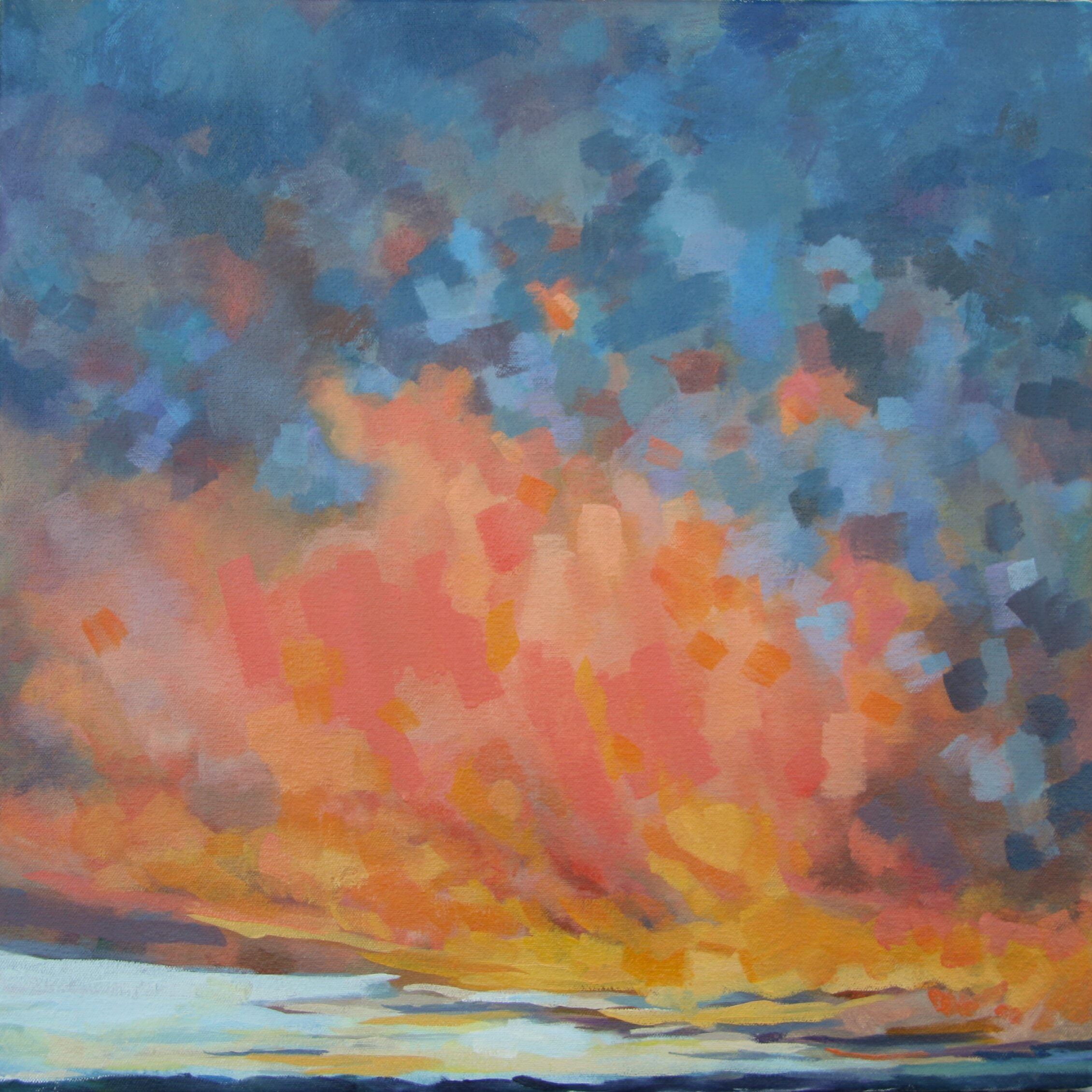 """'Rise'  2015  20"""" x 20""""  water soluble oil on canvas  sold"""