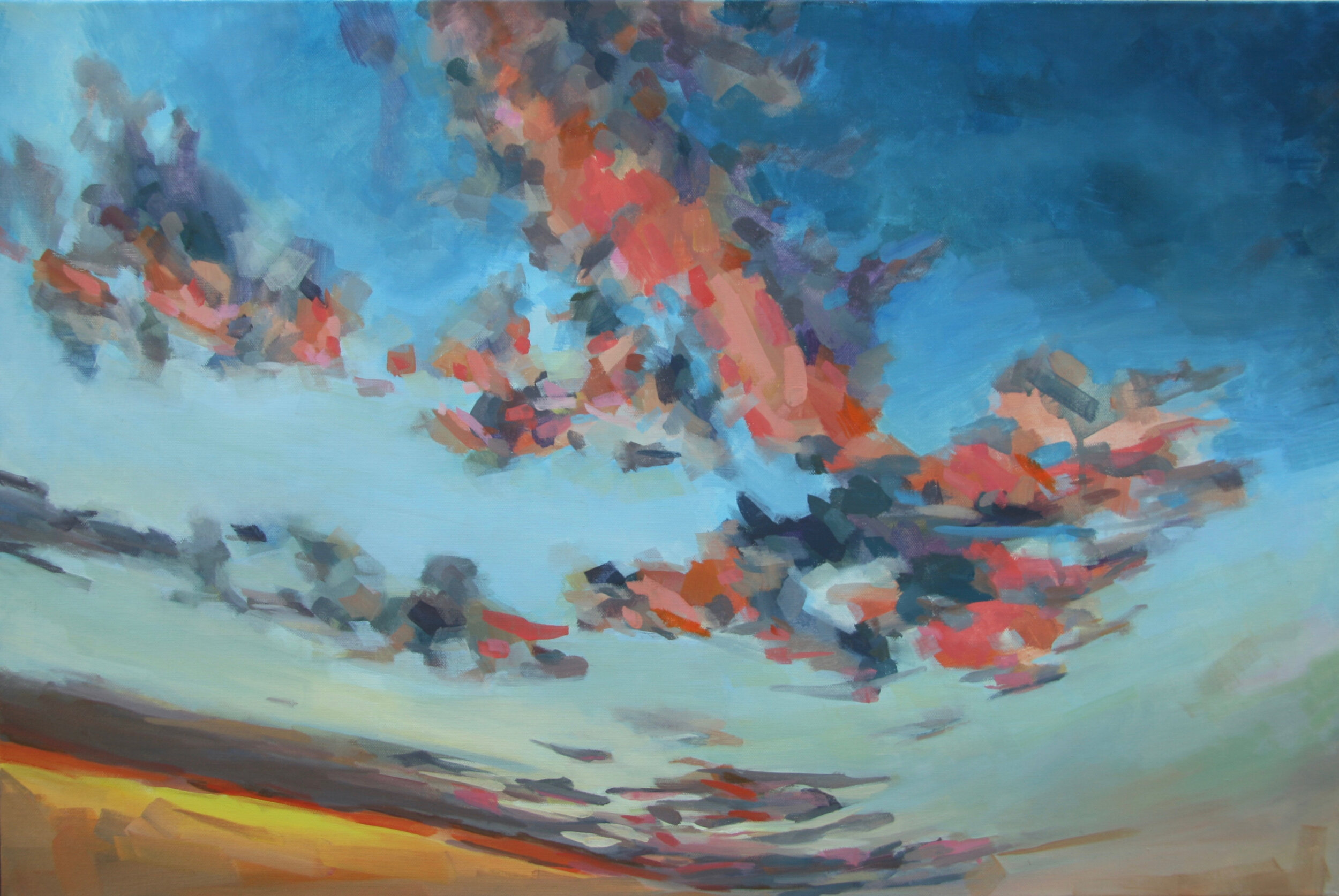 """'Twilight'  2015  30"""" x 20""""  water soluble oil on canvas  sold"""