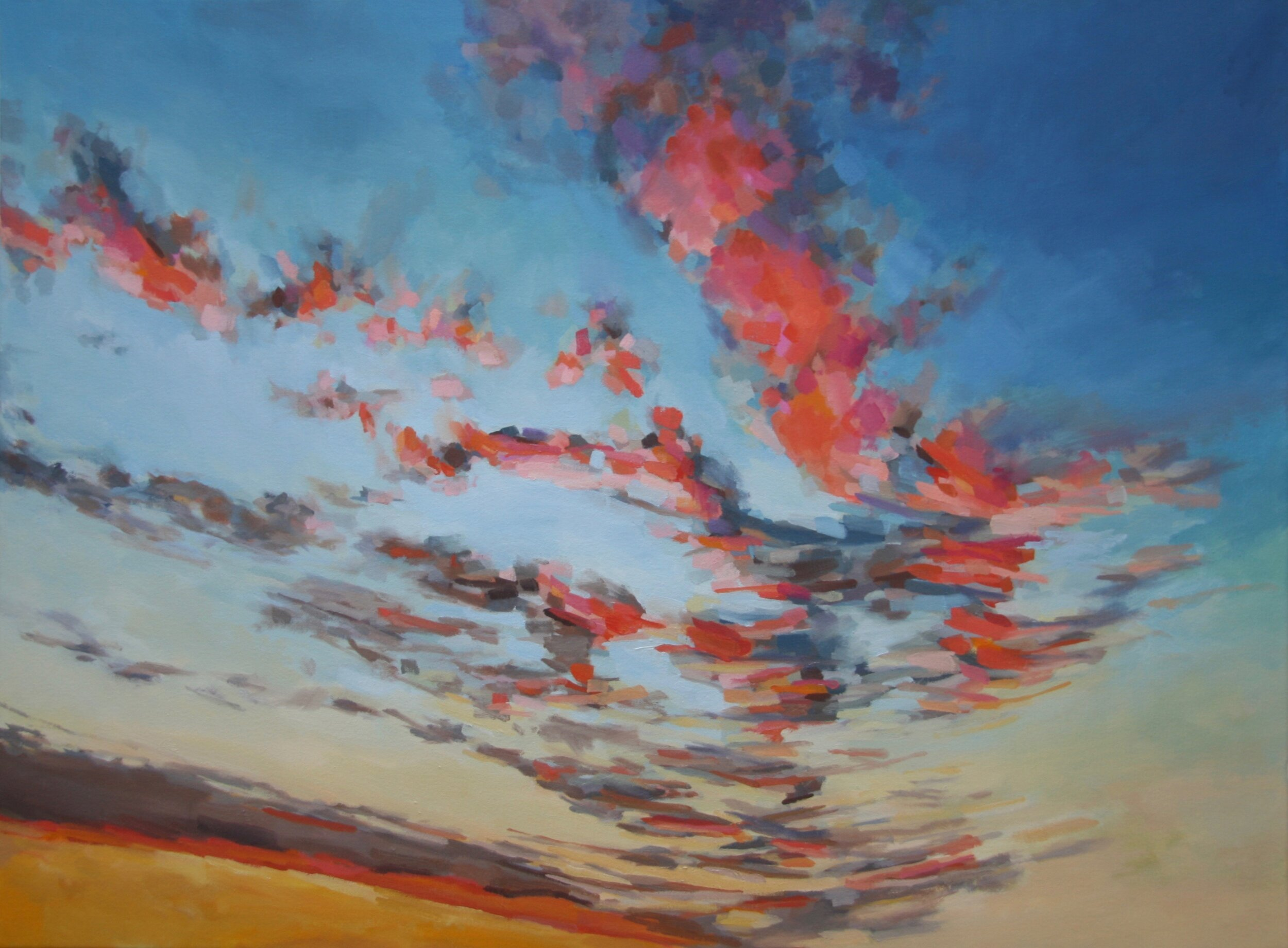 """'Twilight II'  2015  40"""" x 30""""  water soluble oil on canvas  sold"""