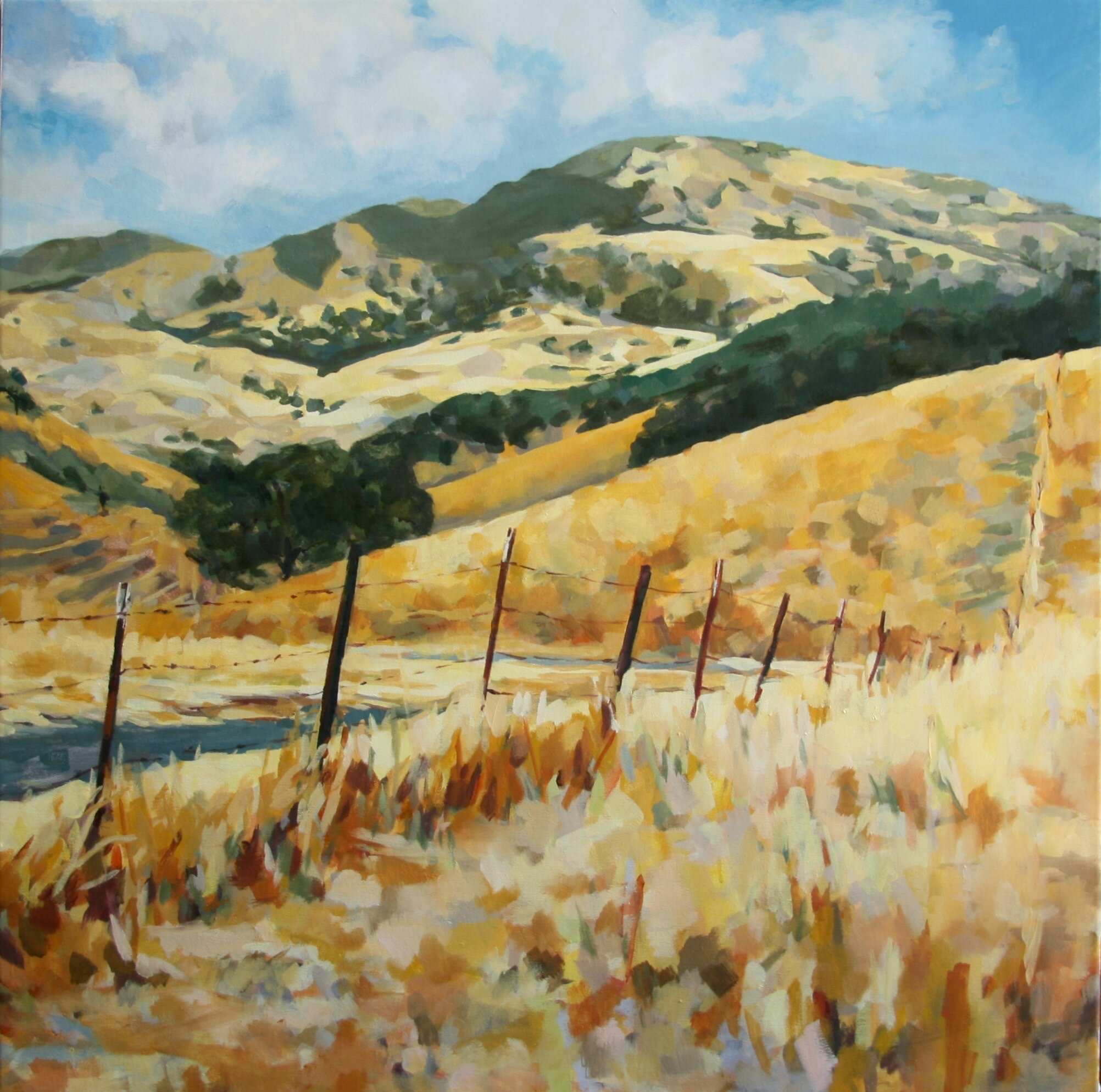 """'Mt. Diablo I'  2015  36"""" x 36""""  water soluble oil on canvas  sold"""