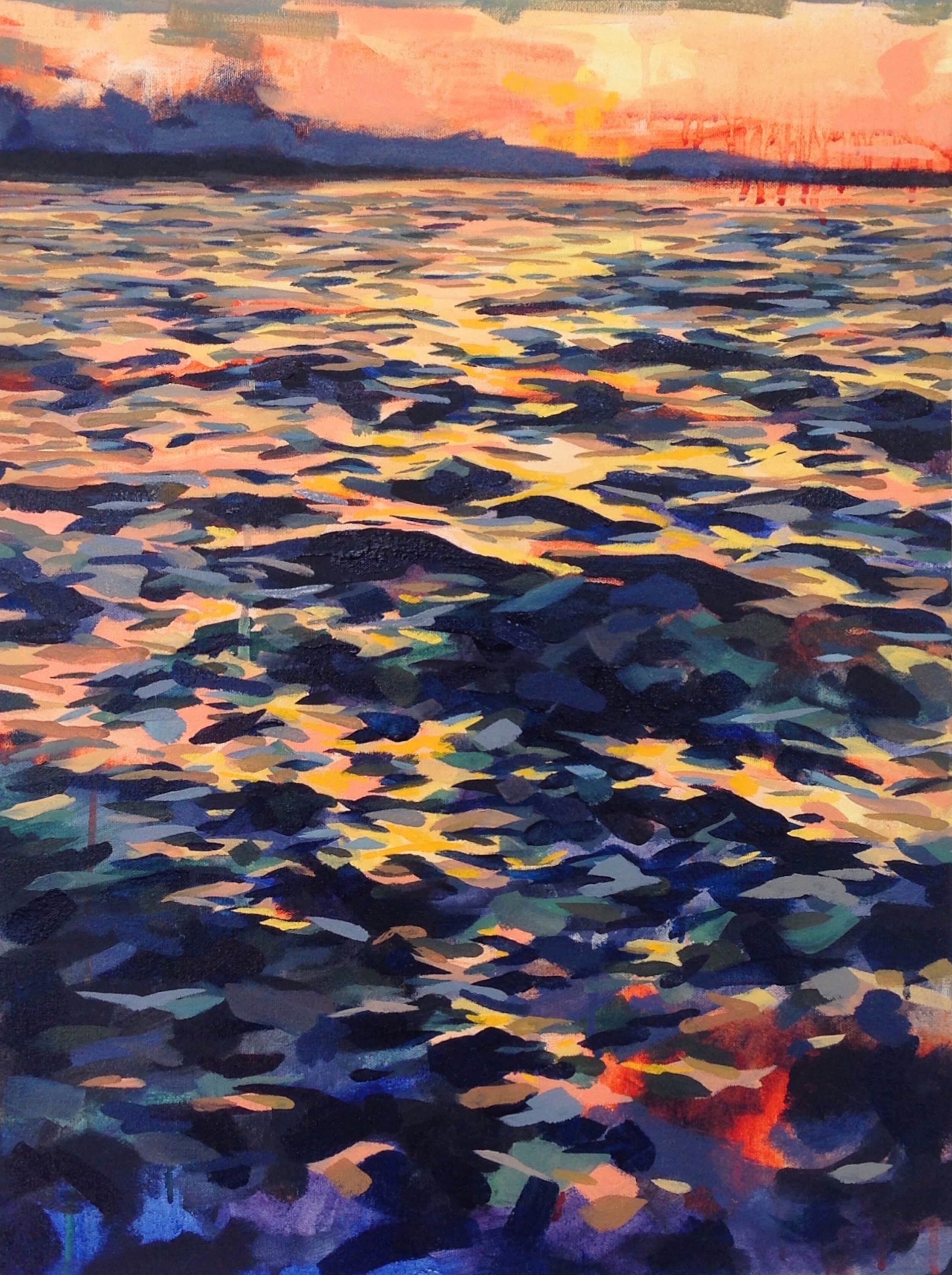 """'Sundown'  2014  18"""" x 24""""  water soluble oil on canvas  sold"""