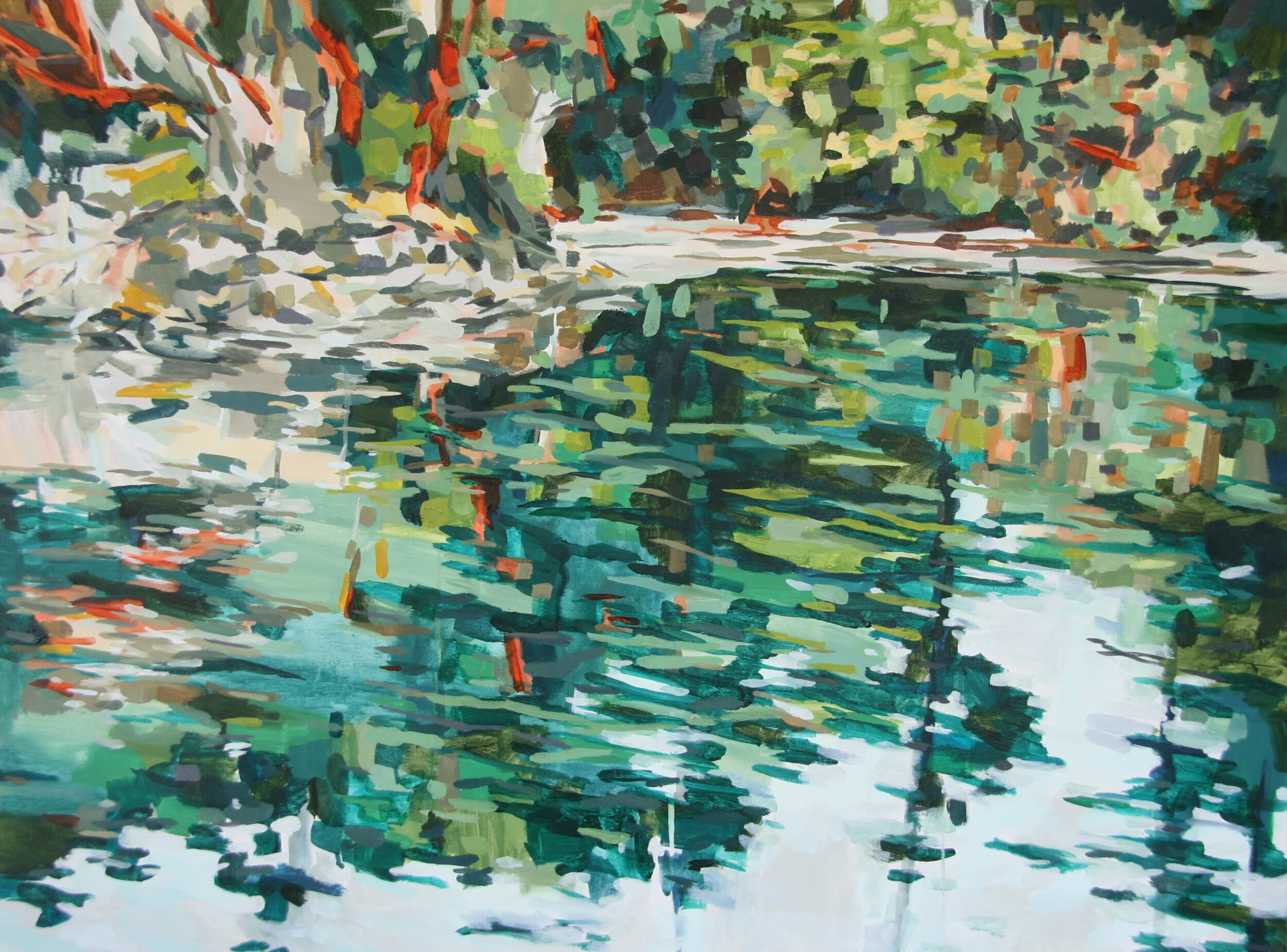 """'Eastsound'  2014  40"""" x 30""""  water soluble oil on canvas  sold"""