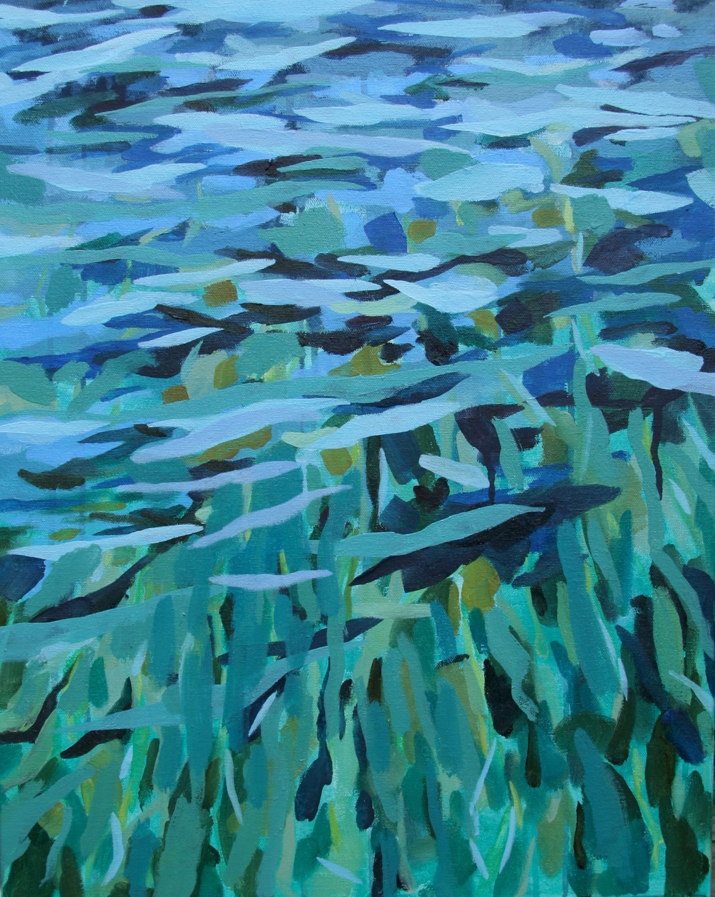 """'Undertow'  2014  16"""" x 20""""  water soluble oil on canvas  available"""