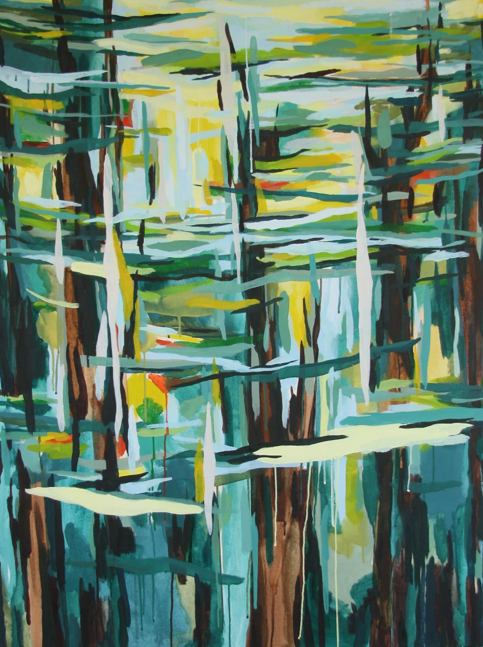 """'Filter I'  2014  36"""" x 48""""  water soluble oil on canvas  sold"""