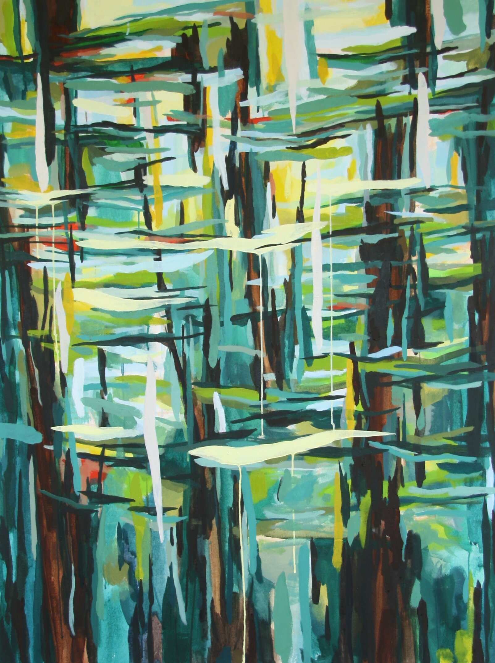 """'Filter II'  2014  36"""" x 48""""  water soluble oil on canvas  sold"""