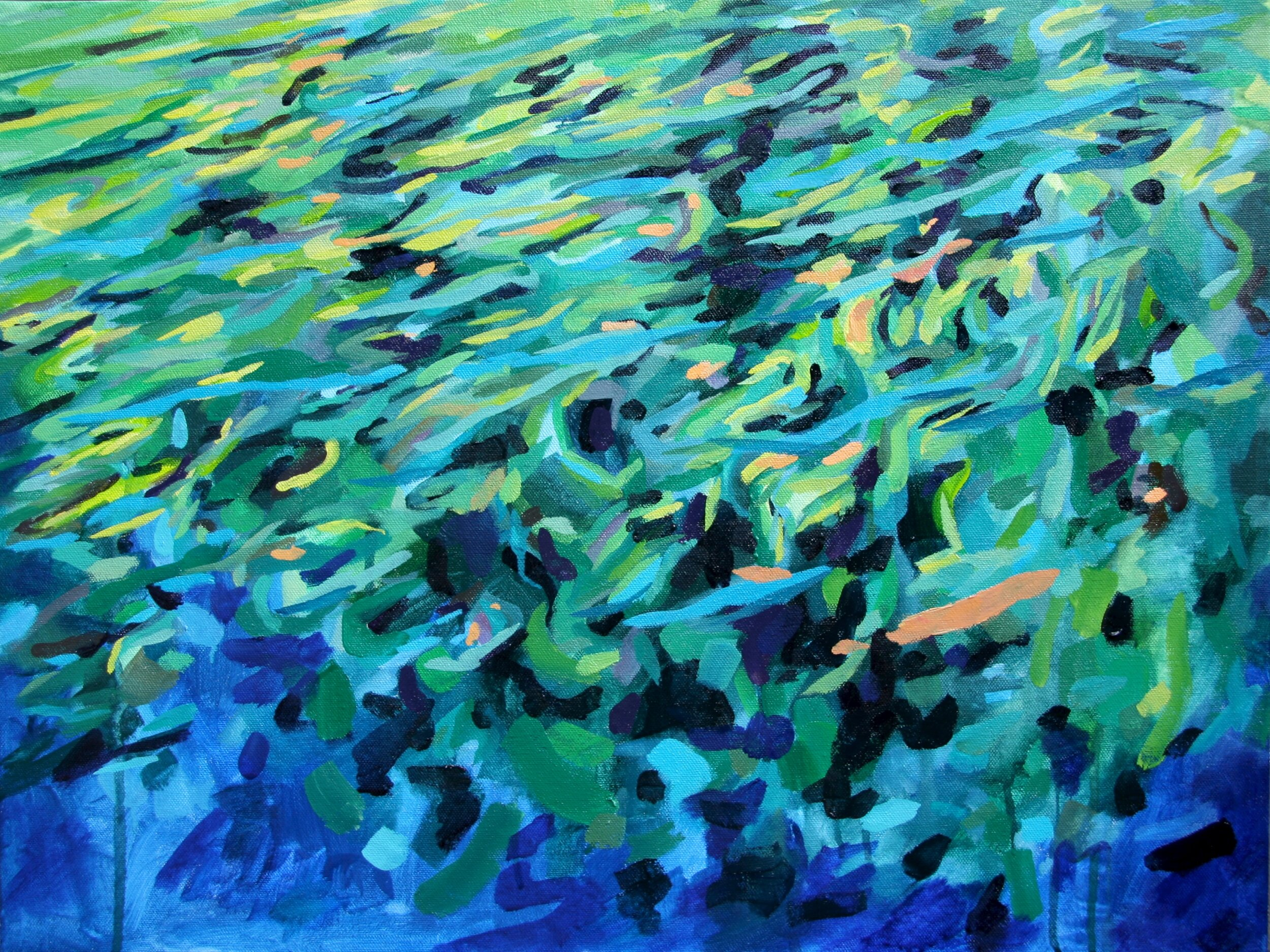 """'Cove'  2014  24"""" x 18""""  water soluble oil on canvas  sold"""