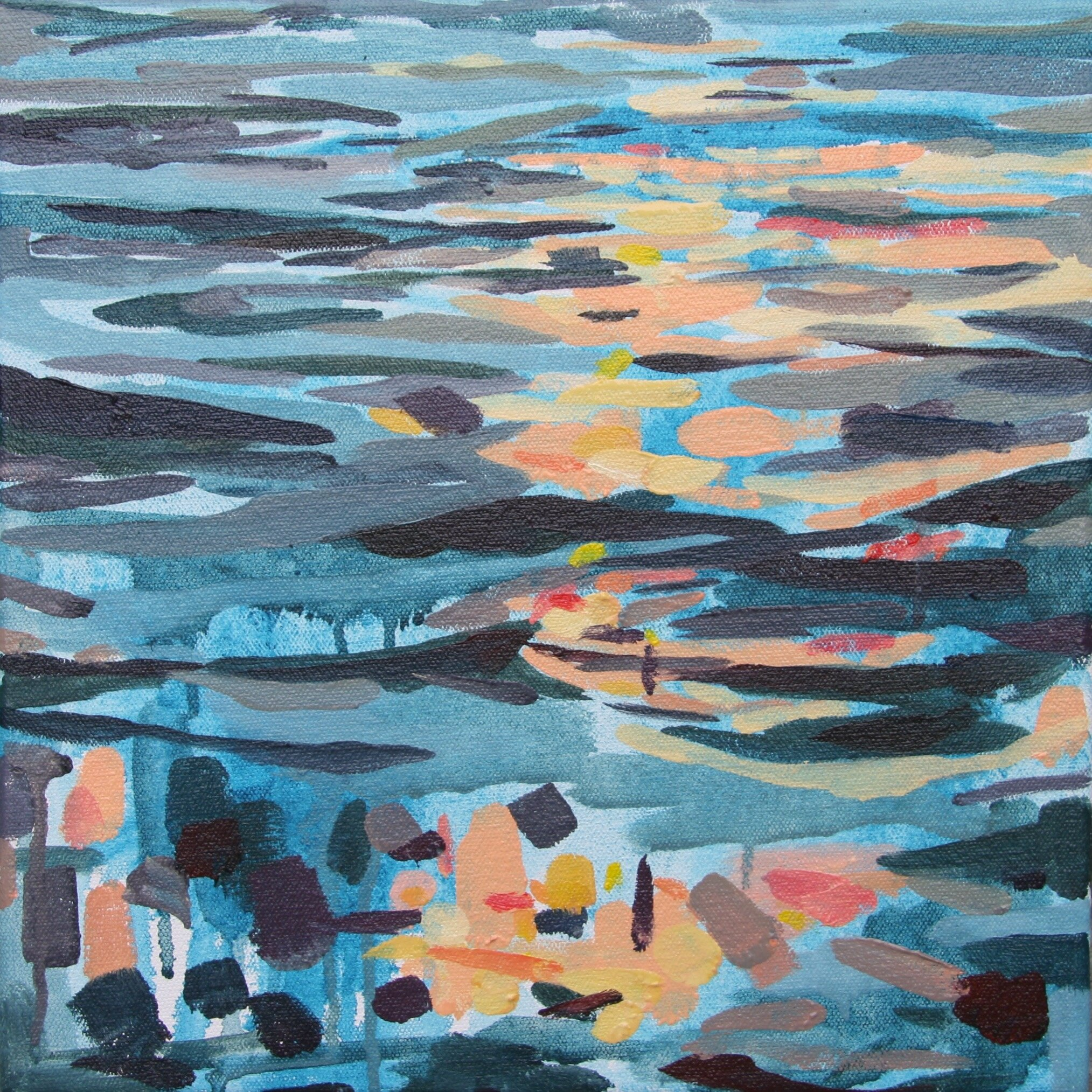 """'Sundance'  2014  12"""" x 12""""  water soluble oil on canvas  sold"""