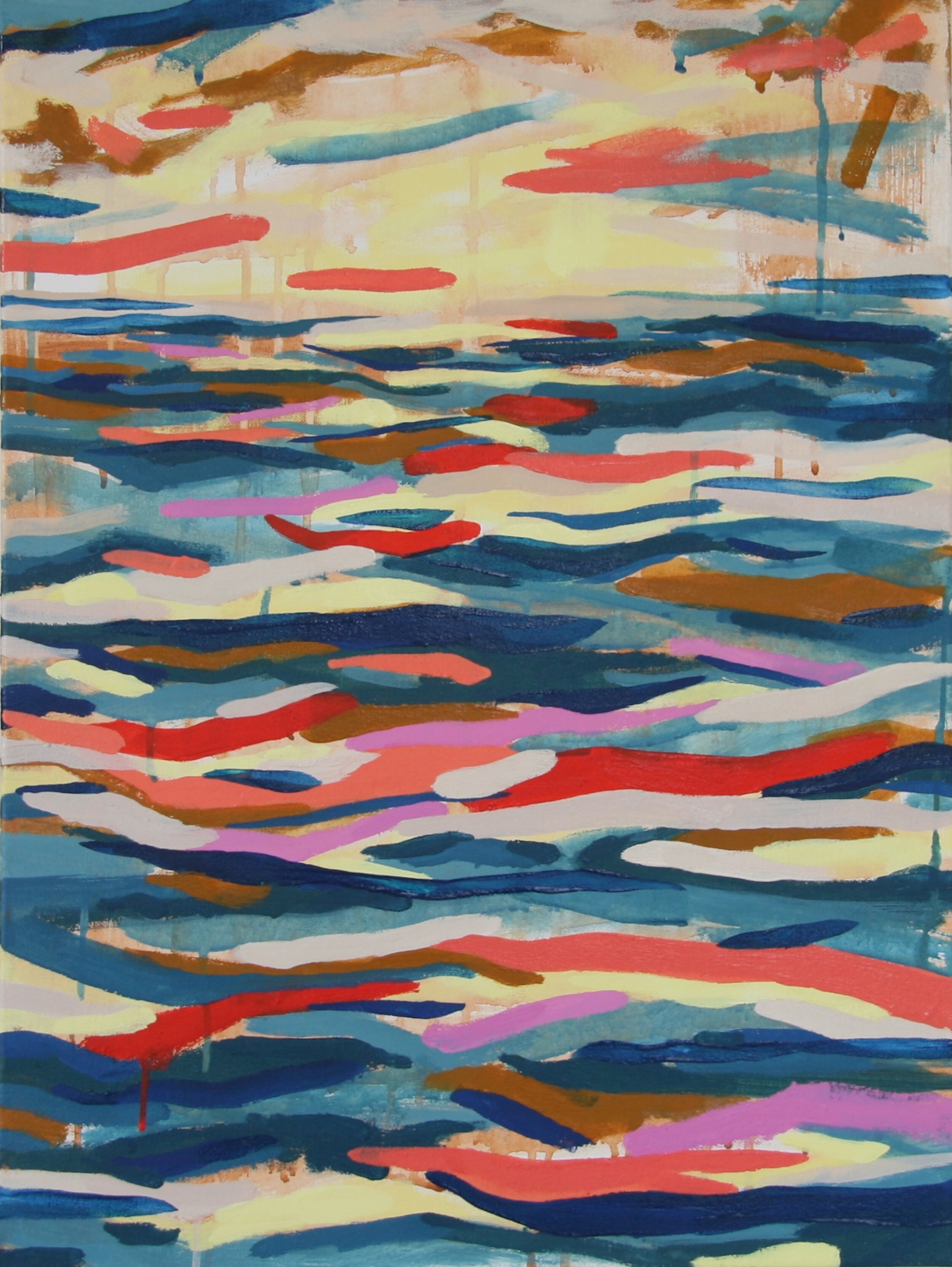 """'Flow'  2014  18"""" x 24""""  water soluble oil on canvas  sold"""