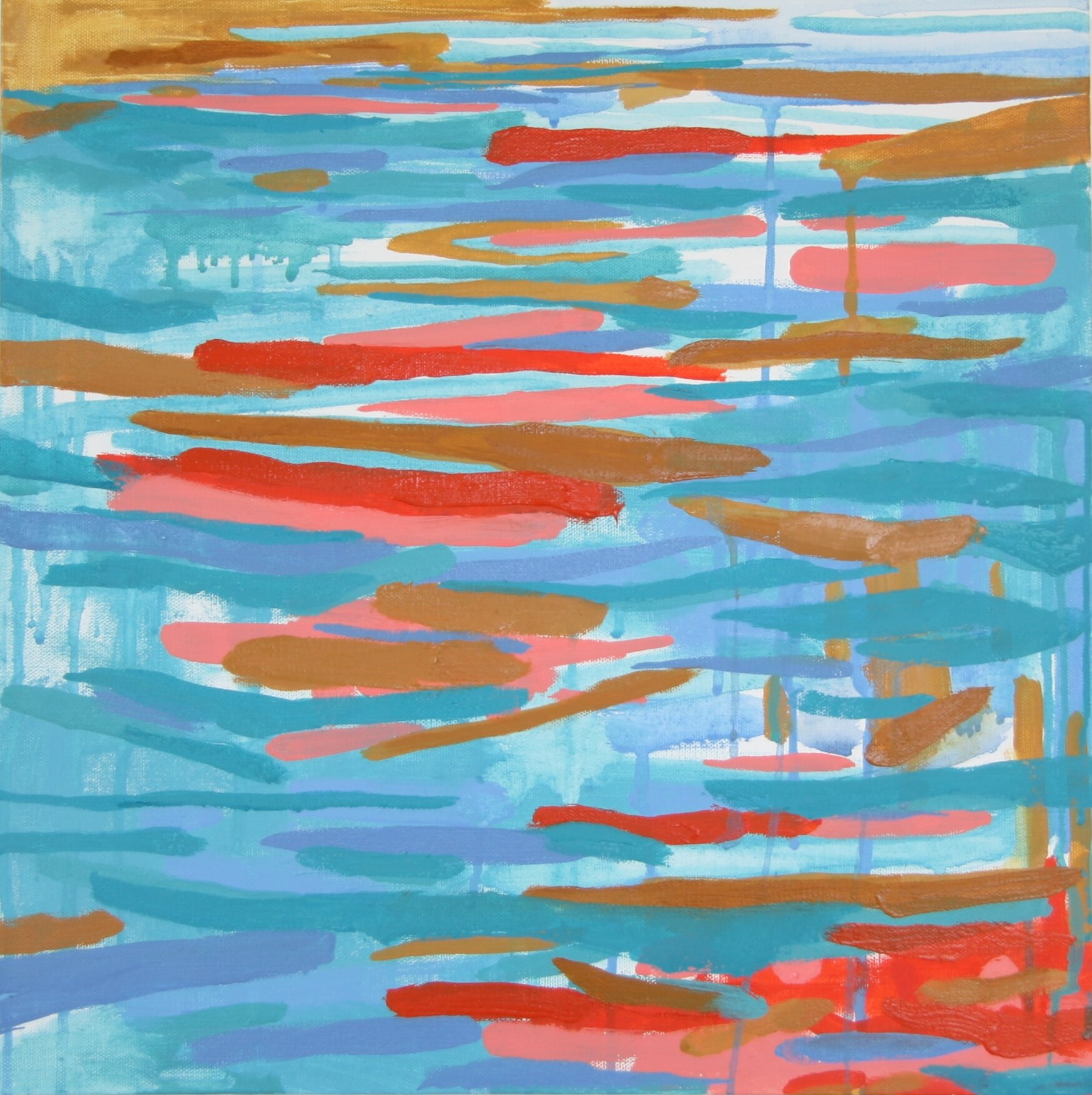 """'Current'  2014  16"""" x 16""""  water soluble oil on canva  available"""