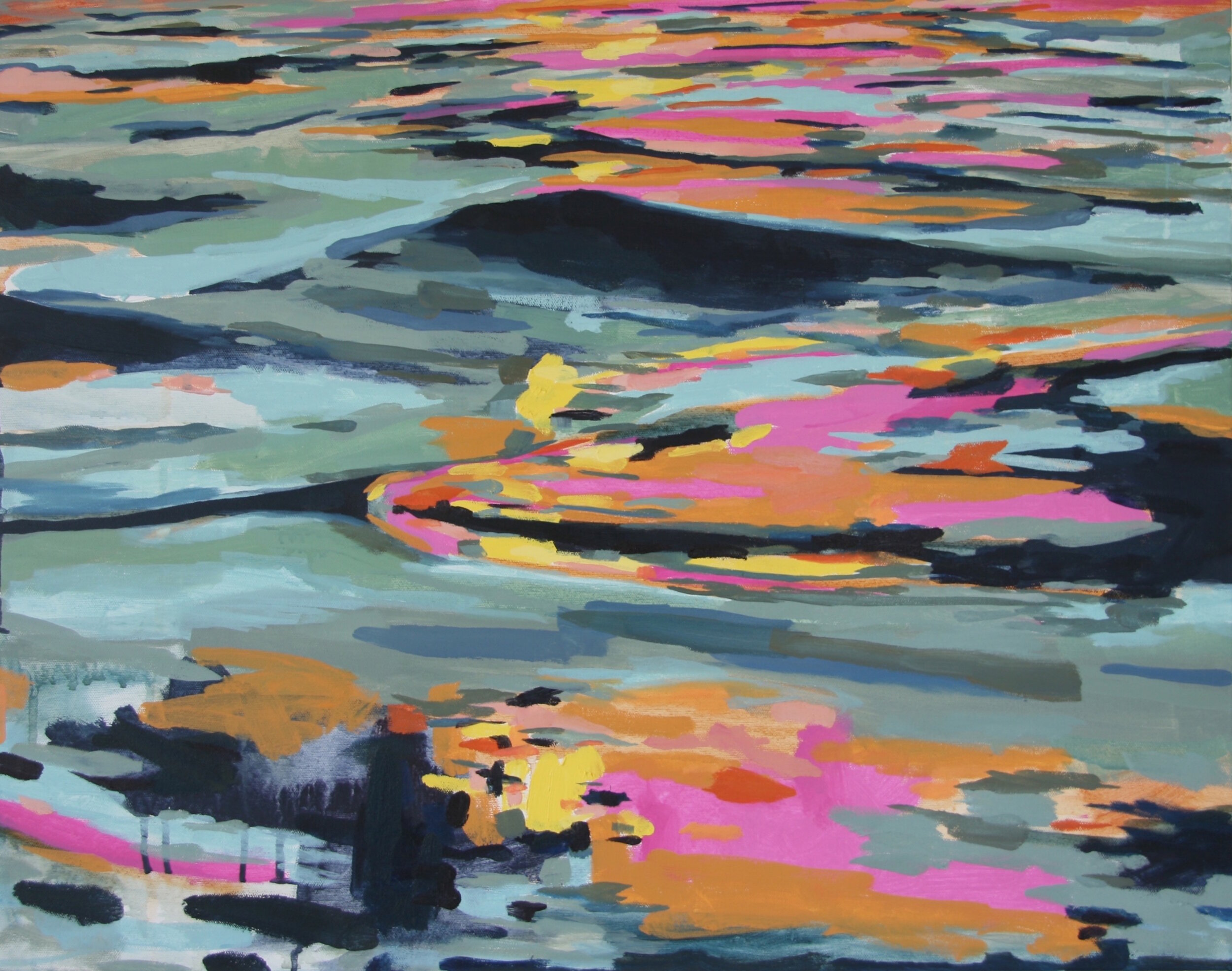 """'Swell'  2014  28"""" x 22""""  water soluble oil on canvas  sold"""