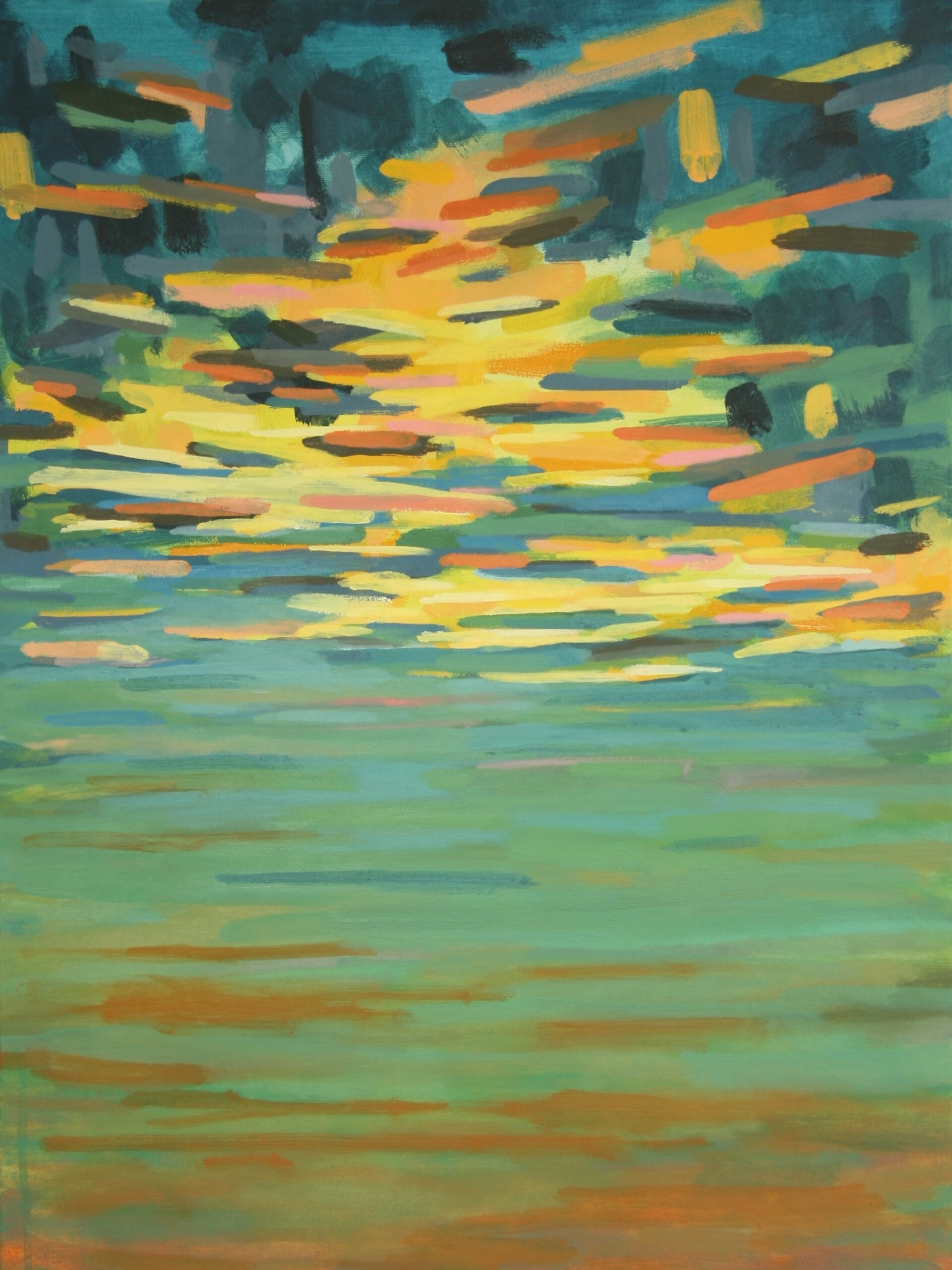"""'Afterglow'  2013  18"""" x 24""""  water soluble oil on canvas  sold"""