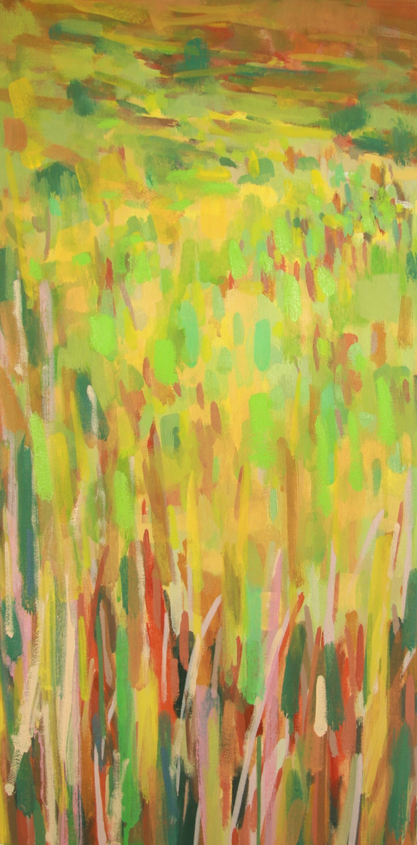 """'Meadow'  2013  12"""" x 24""""  water soluble oil on canvas  sold"""