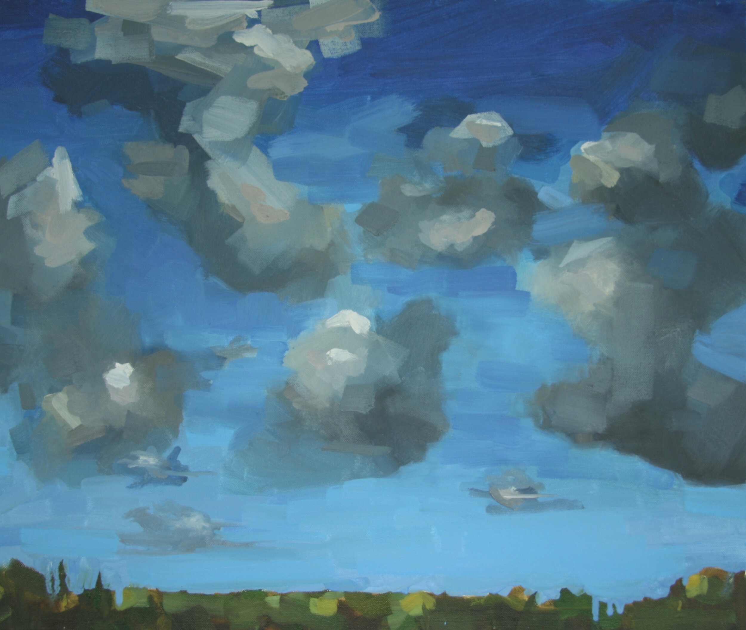"""'Cloud Study'  2012  24"""" x 20""""  oil on canvas  sold"""