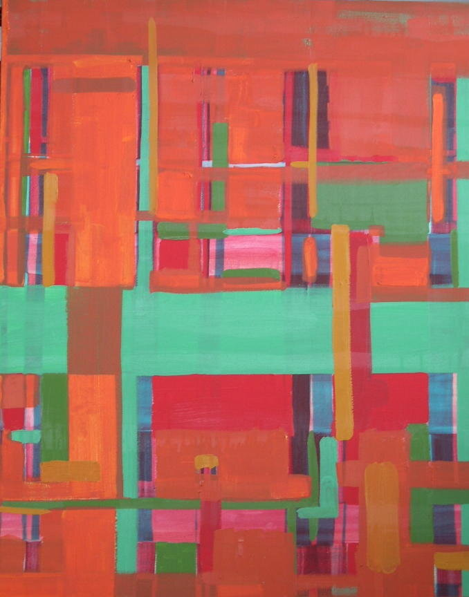 """'Undercover'  2001  20"""" x 30""""  oil on canvas  sold"""