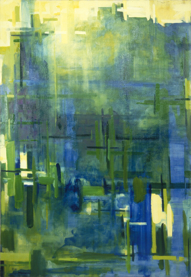 """'Places Everyone'  2000  22"""" x 32""""  oil on canvas  sold"""