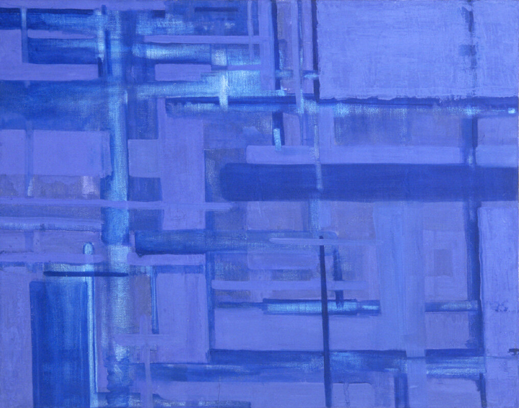 """'Weave'  1999  24"""" x 18""""  oil on canvas  sold"""