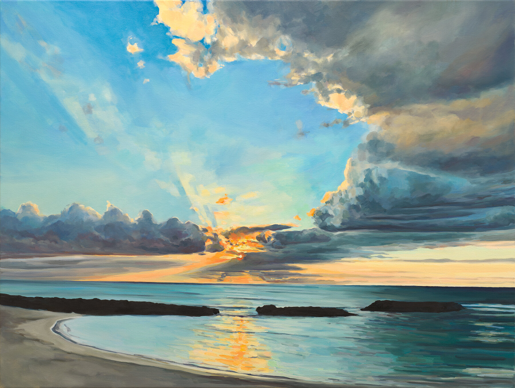 """'Breaking Through'  2019  48"""" x 36""""  water soluble oil on canvas  available"""
