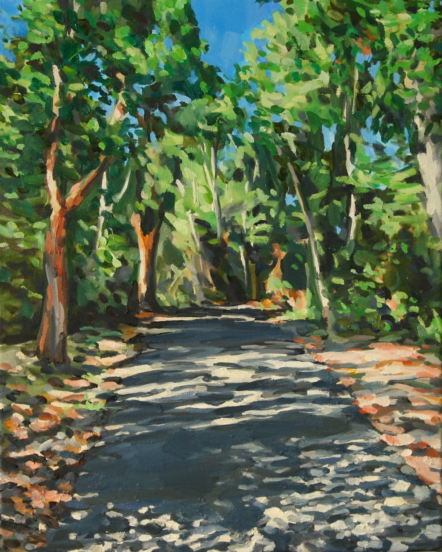 """'Back Road'  2019  16"""" x 20""""  water soluble oil on canvas  available"""