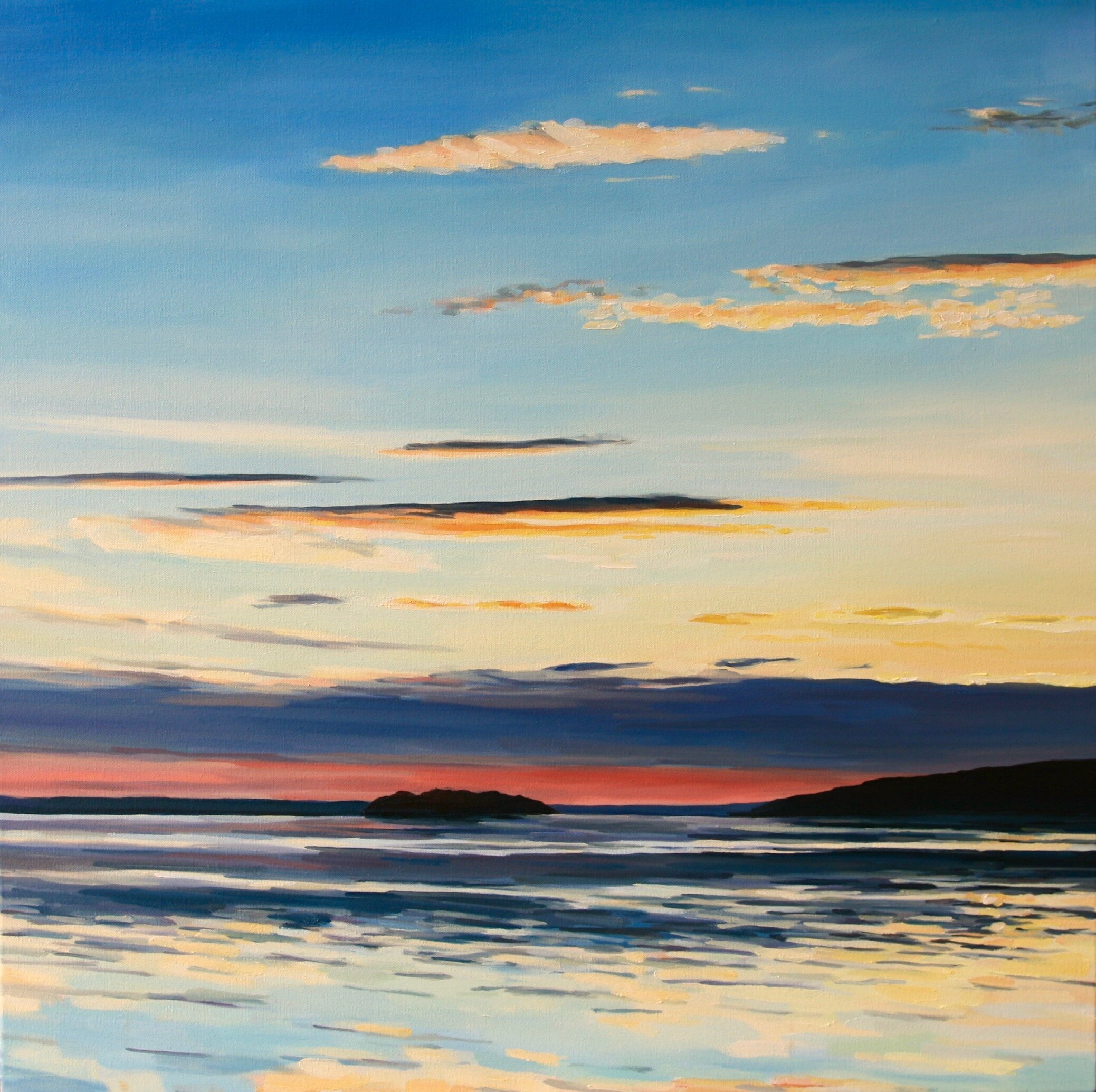 """'Camano'  2019  30"""" x 30""""  water soluble oil on canvas  sold"""