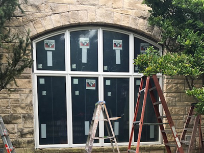 Arched Window Installation