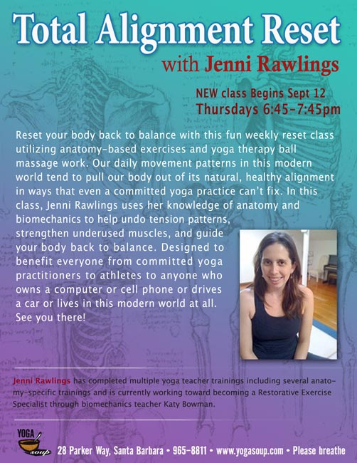 -my fascia-hydrating class at Yoga Soup: Thursday evenings 6:45-7:45 and only $12! (click to enlarge flyer)-