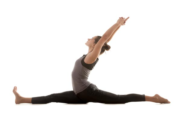 Hanumanasana, yoga's forward split.